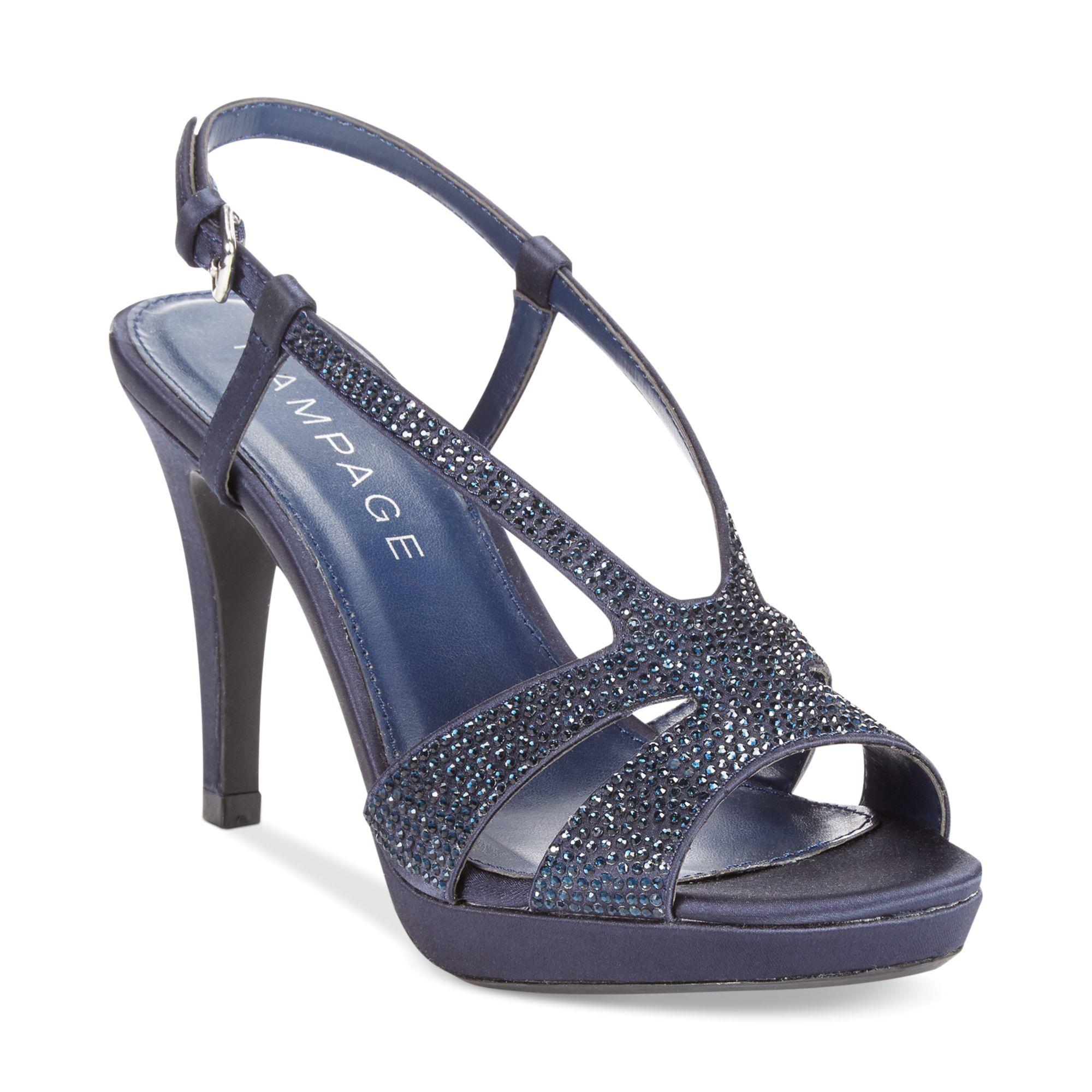 rage vaylor platform evening sandals in blue navy lyst