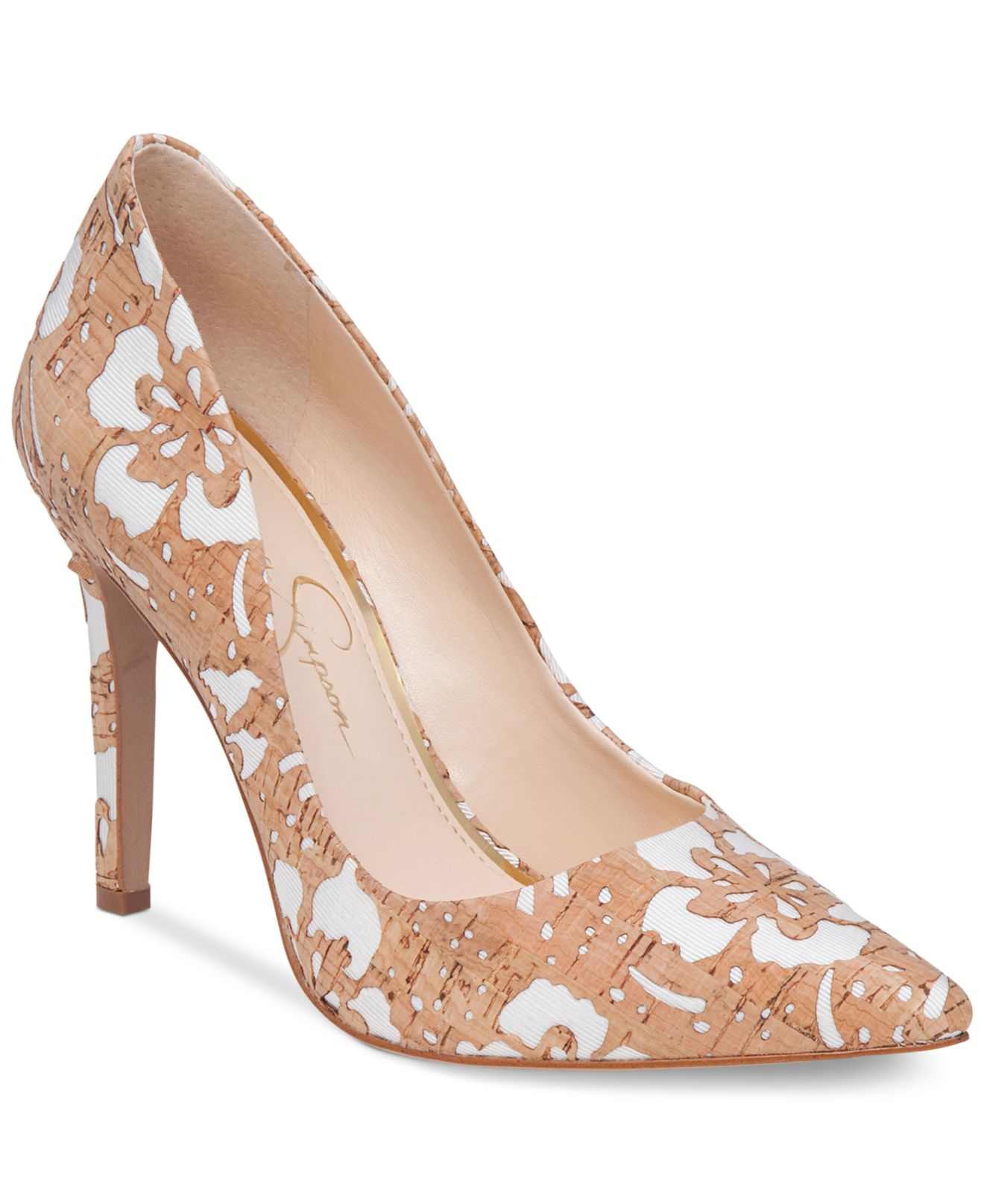 7ad19190771b Lyst - Jessica Simpson Cassani Pointed-toe Pumps in Natural