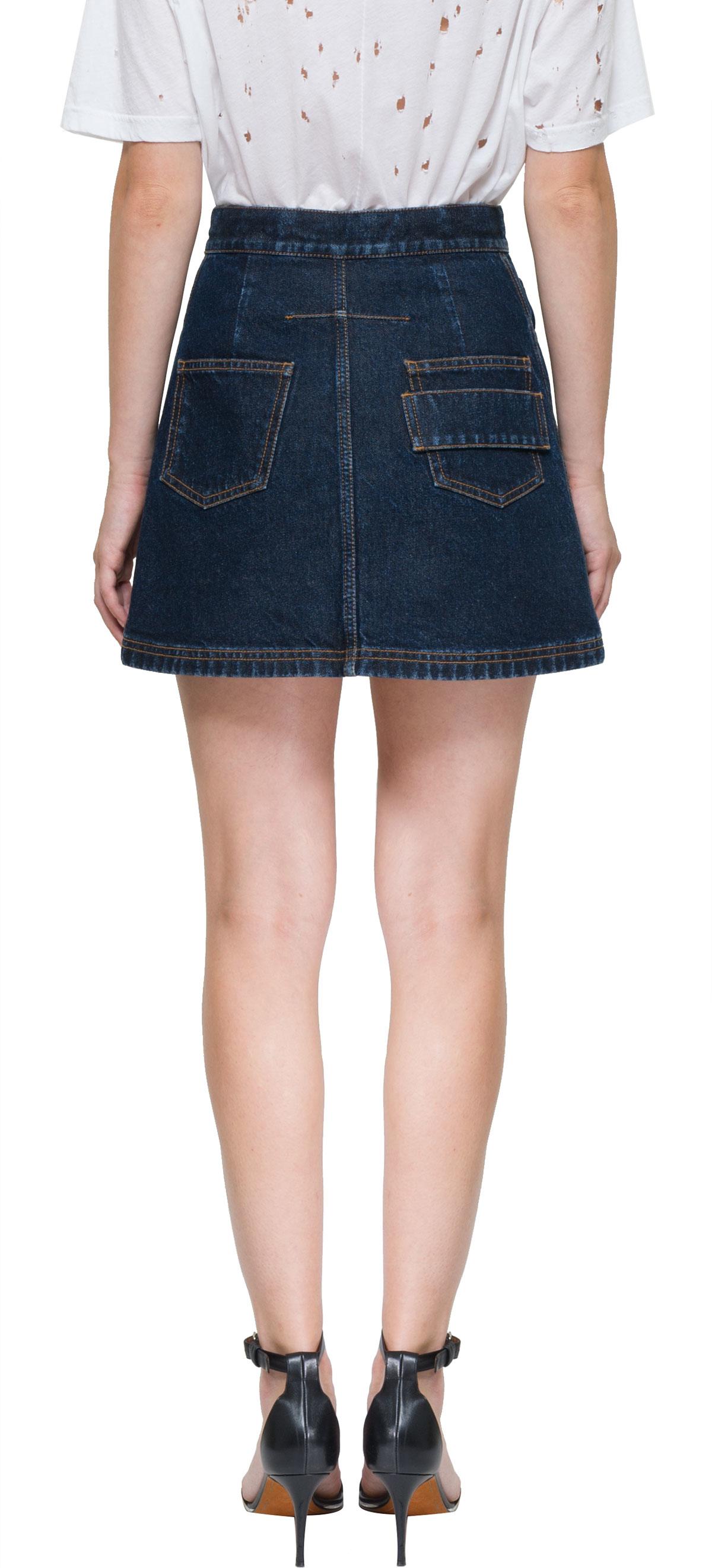givenchy mini denim skirt in blue lyst