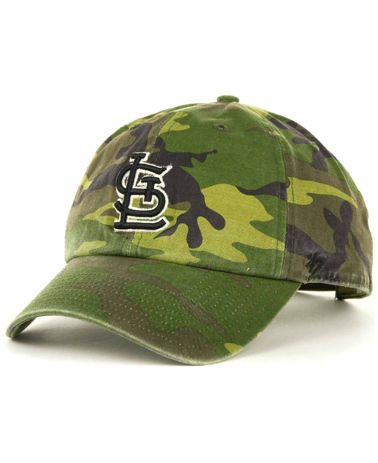 watch c5e22 b6ccd ... wholesale lyst 47 brand st. louis cardinals clean up hat in green for  men 93f2c