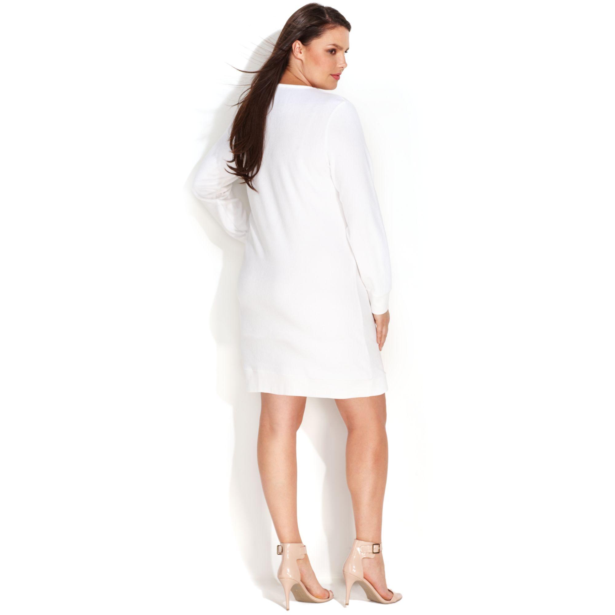 Casual White Dress Plus Size