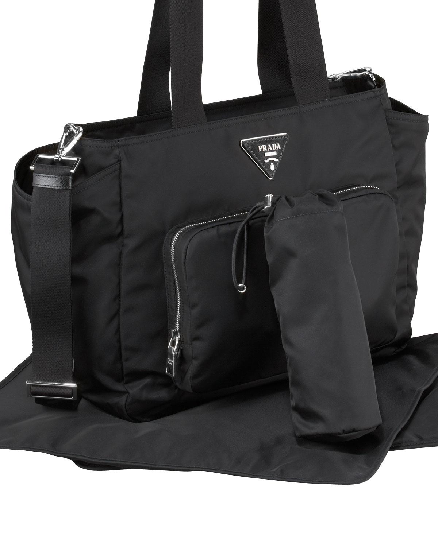 Prada Nylon Baby Bag in Black (BLUE) | Lyst