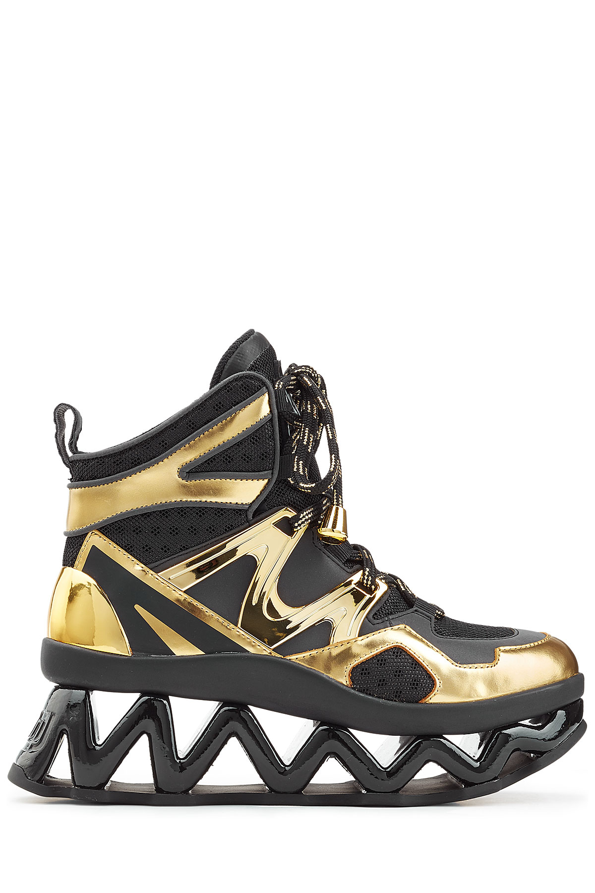 d76d53a19cfe Marc By Marc Jacobs Ninja High Top Platform Sneakers - Gold in ...