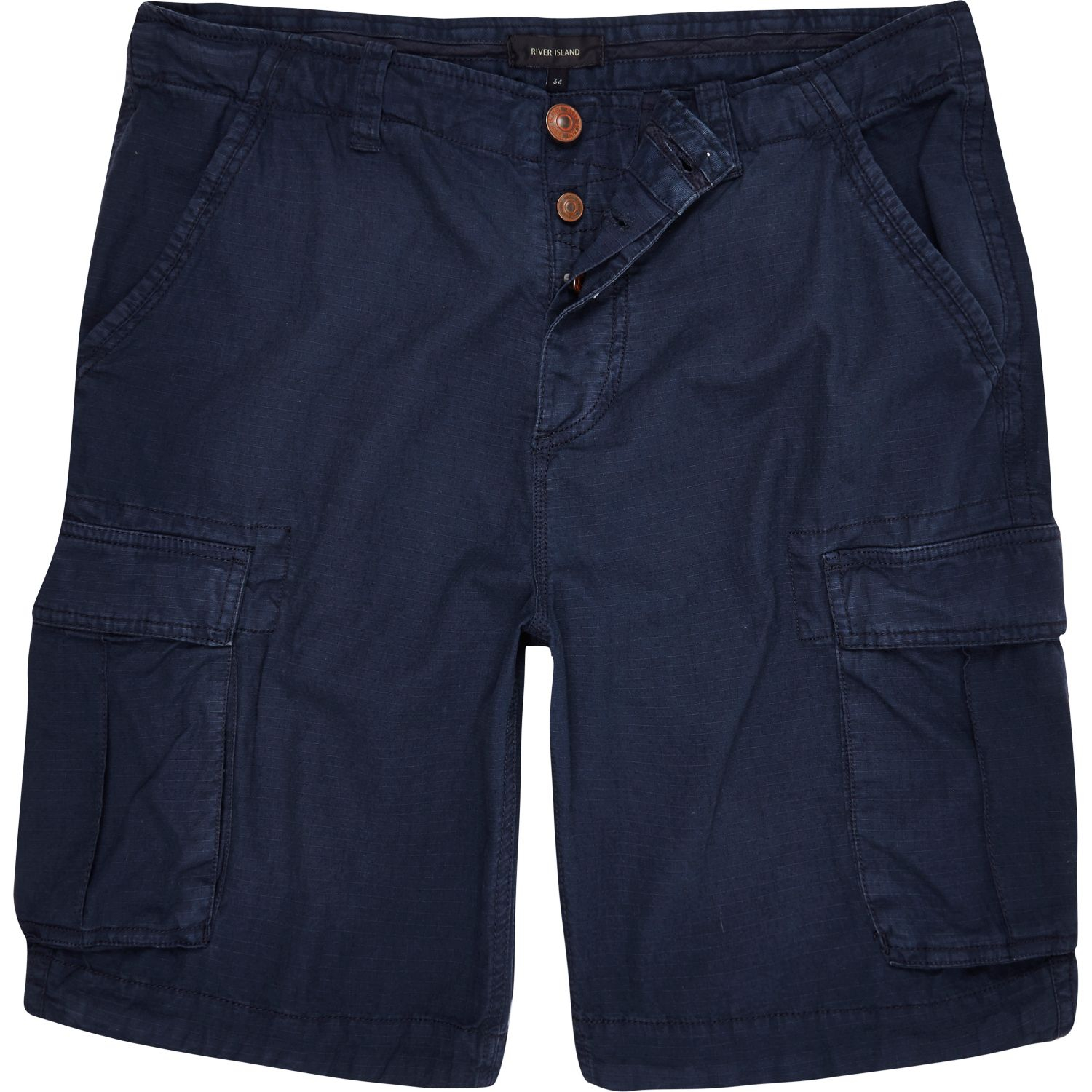 River island Navy Cargo Shorts in Blue for Men | Lyst