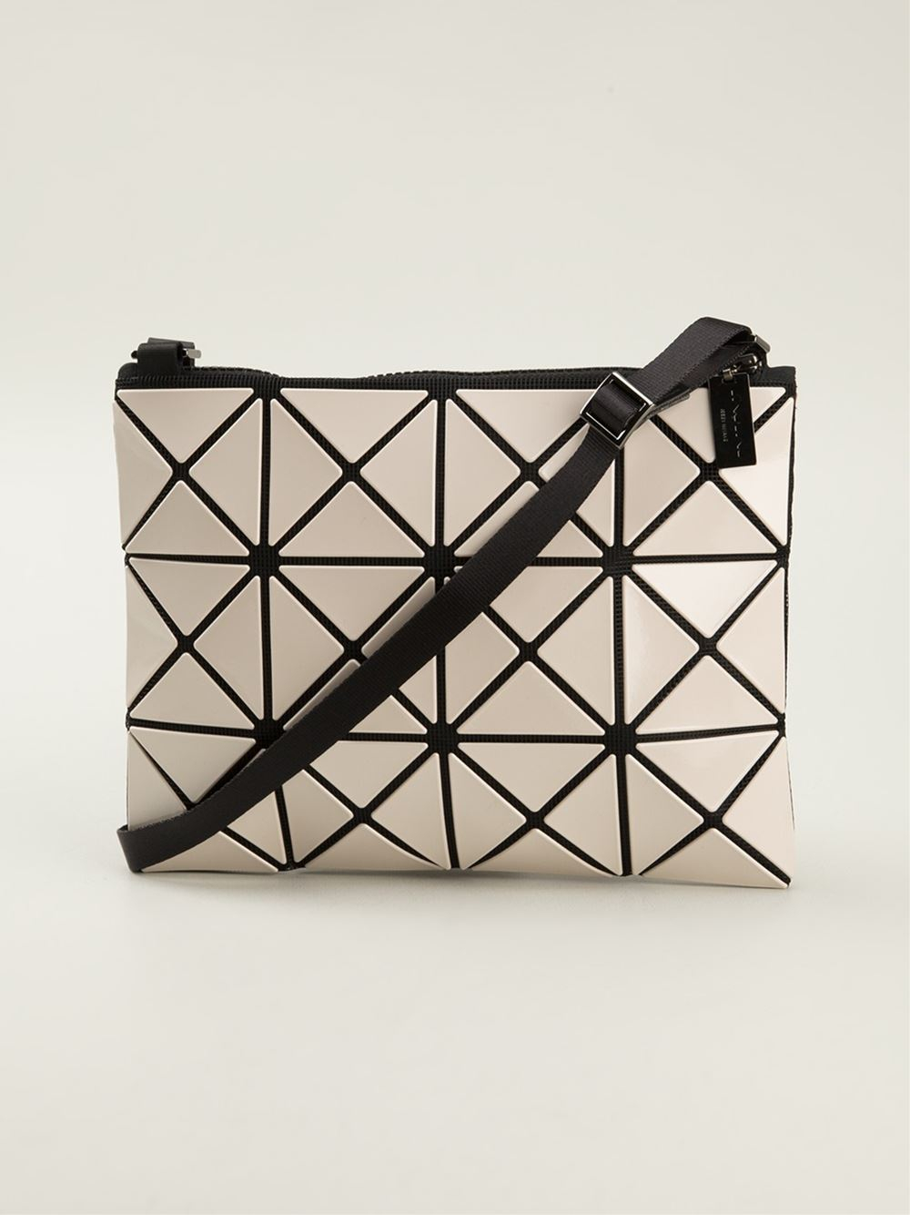 0b27765c7b96 Lyst - Bao Bao Issey Miyake Prism Basic Cross Body Bag in White