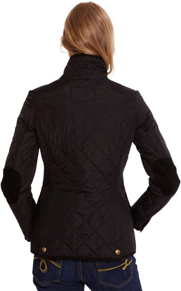Joules Moredale Quilted Jacket In Black Lyst