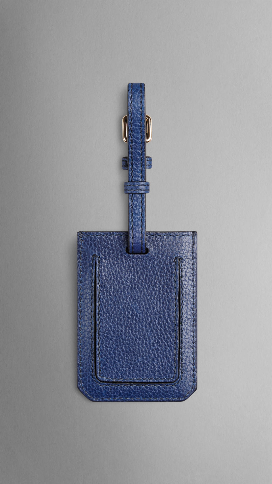 Lyst Burberry Grainy Leather Luggage Tag In Blue For Men