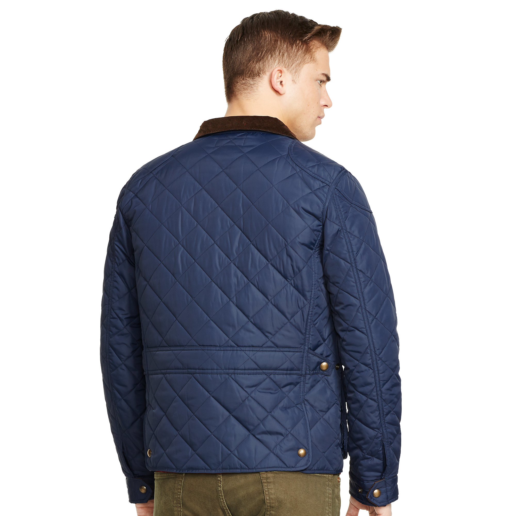 Lyst Polo Ralph Lauren Quilted Jacket In Blue For Men