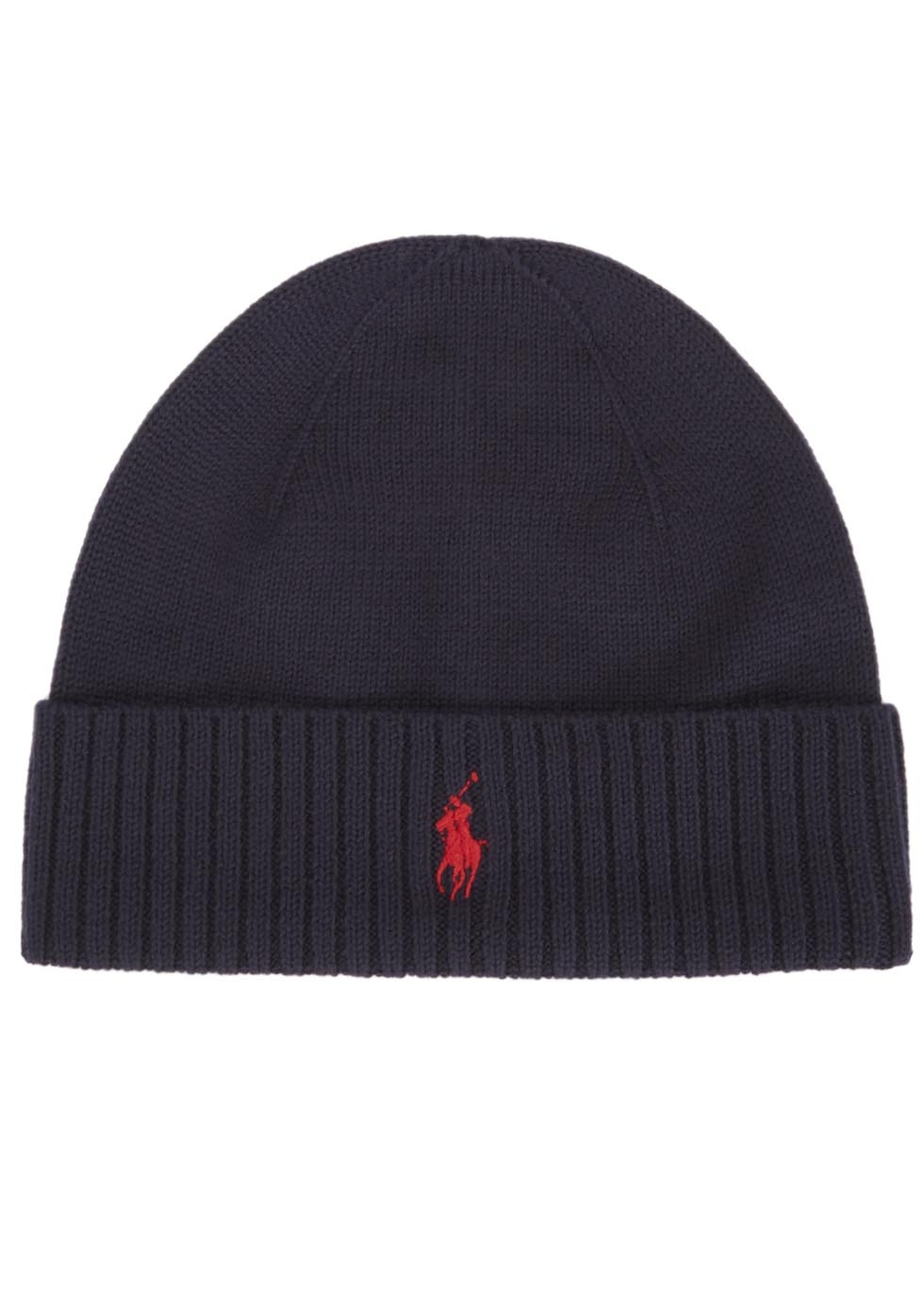 Polo Ralph Lauren Navy Merino Wool Hat in Blue for Men - Lyst 81490d22640