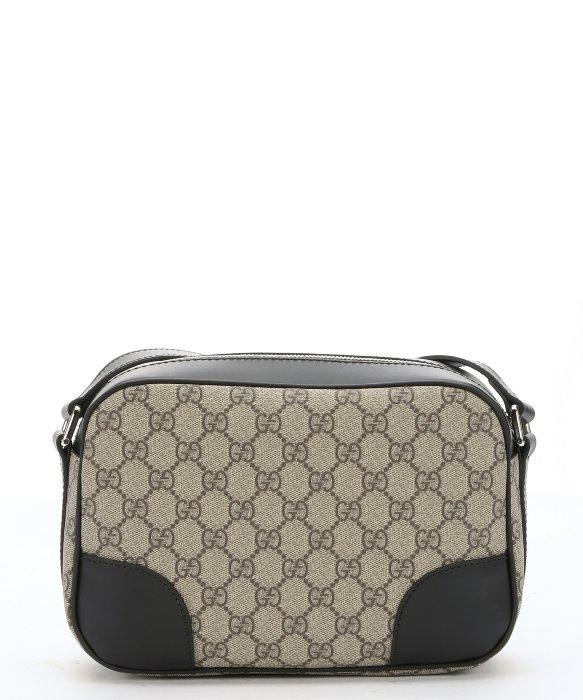 Gucci Ebony Gg Canvas And Black Leather Camera Case