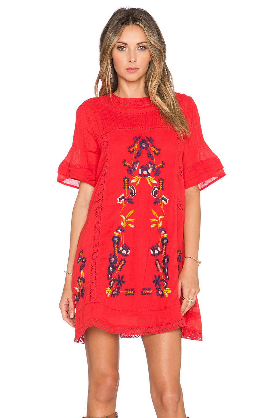 Free people Perfectly Victorian Dress in Red - Lyst