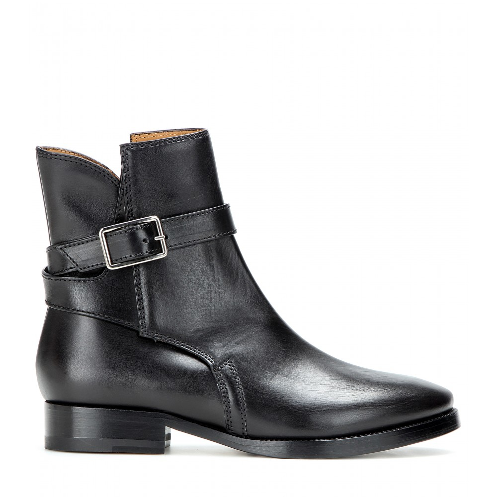 Acne Leather Buckled Boots 4C29vx8K
