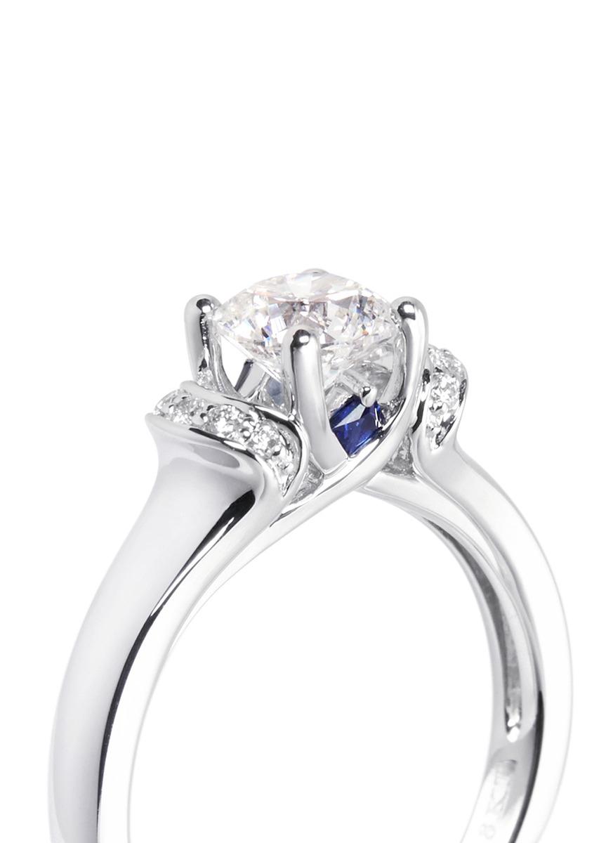 Vera Wang Love Ribbons Bows Diamond And White Gold