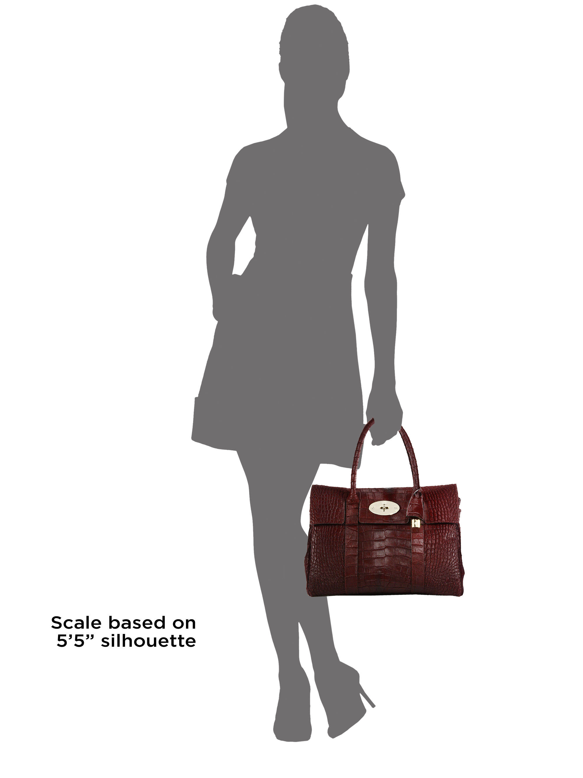 9bf7ebc1db50 france mulberry bayswater crocodile handbag 0f601 140c8  coupon lyst mulberry  bayswater crocodile embossed calf hair satchel in red fd6f2 fe9be