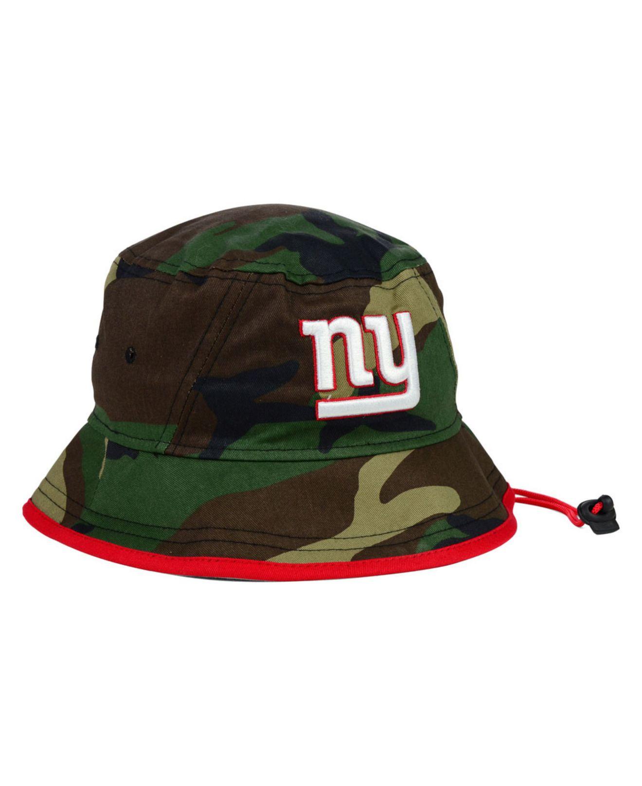 Lyst - KTZ New York Giants Camo Pop Bucket Hat in Green for Men a2ae5b89f24