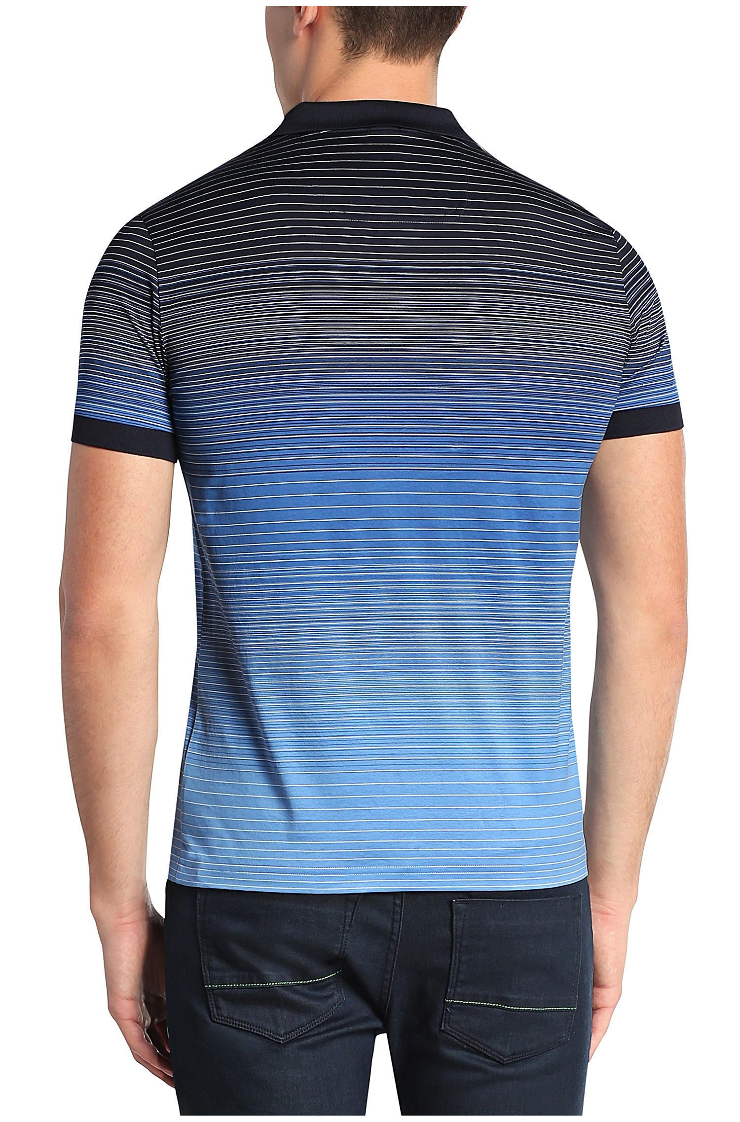 Lyst - Boss Green Regular-fit Cotton Polo Shirt: 'paddy 3' in Blue for Men