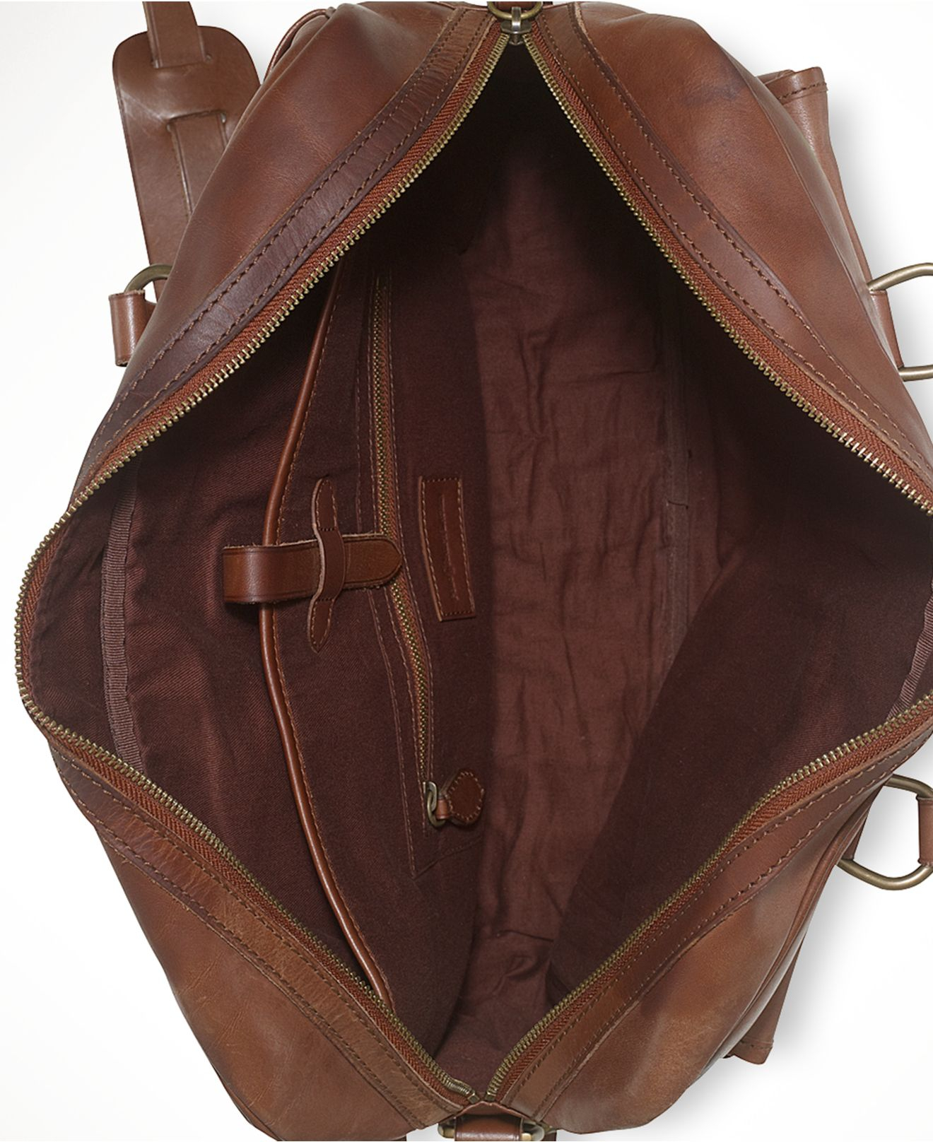 Lyst - Polo Ralph Lauren Leather Commuter Bag in Brown for Men 1c9ee5a7fd31f