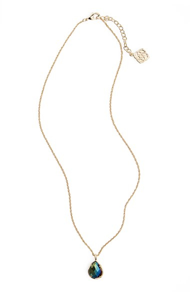 448add6e0a38d6 Kendra Scott 'kiri' Teardrop Pendant Necklace in Metallic - Lyst