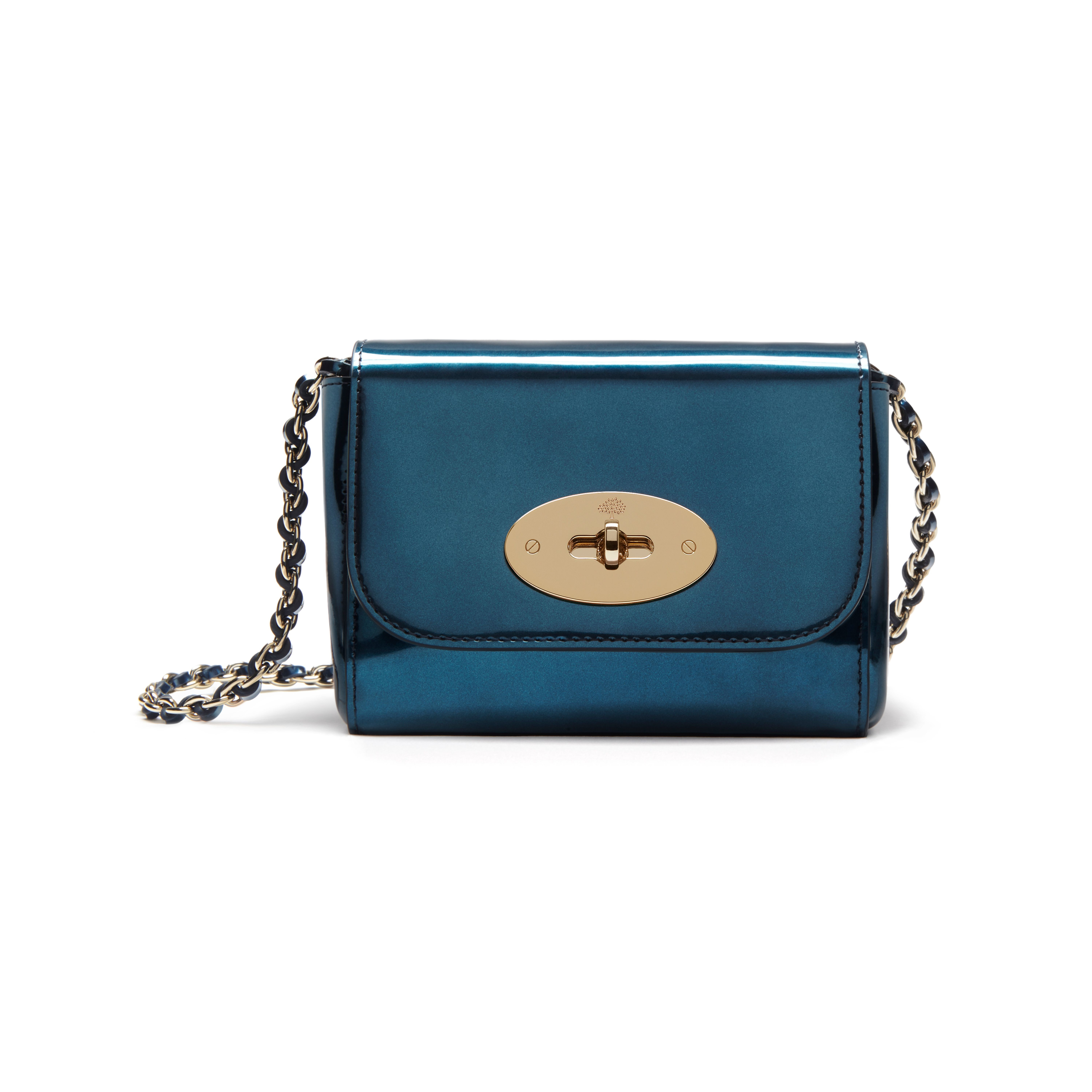 195afee39f0f Mulberry Lily Mini Leather Cross-body Bag in Blue - Lyst
