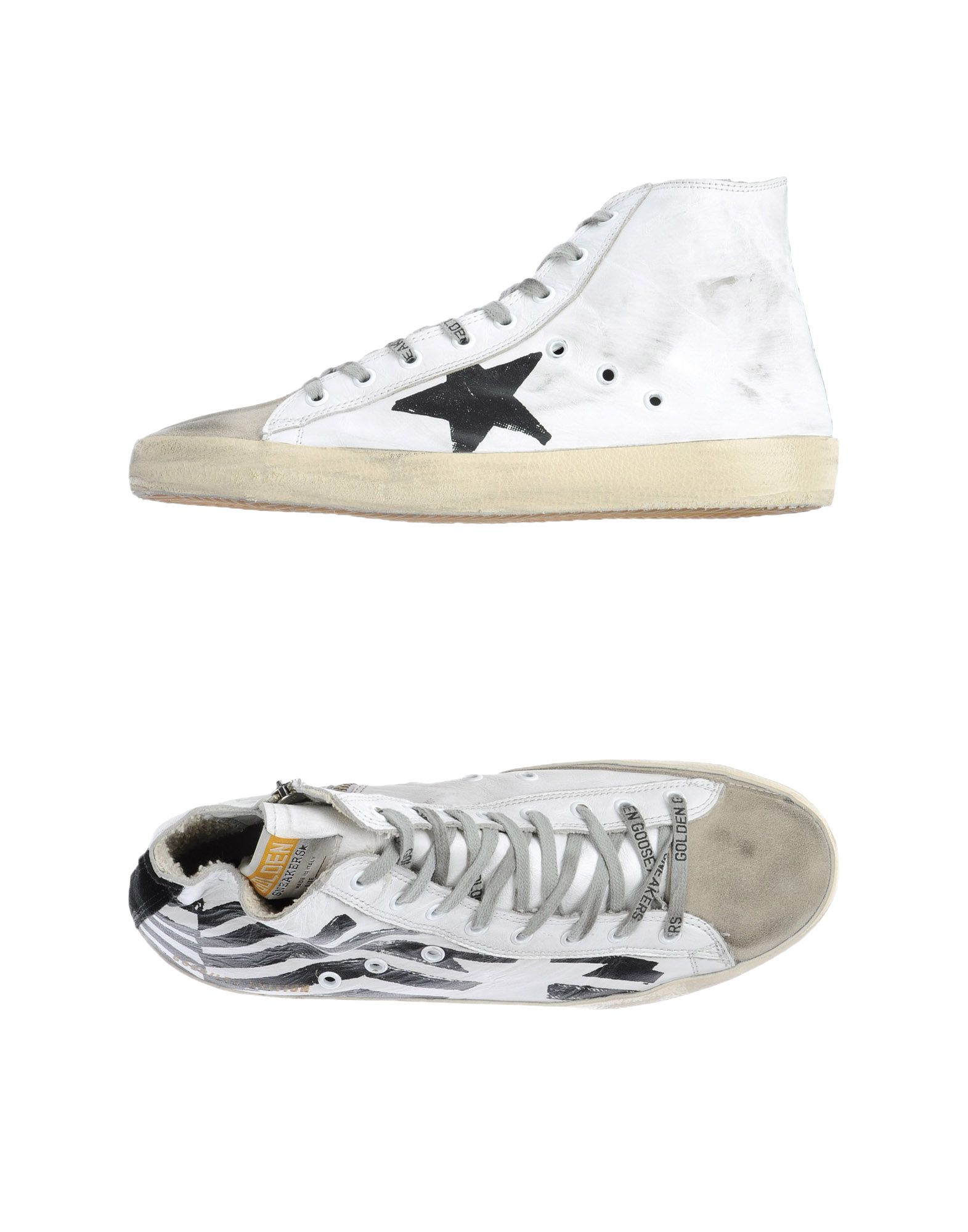 golden goose deluxe brand high tops trainers in white for men lyst. Black Bedroom Furniture Sets. Home Design Ideas