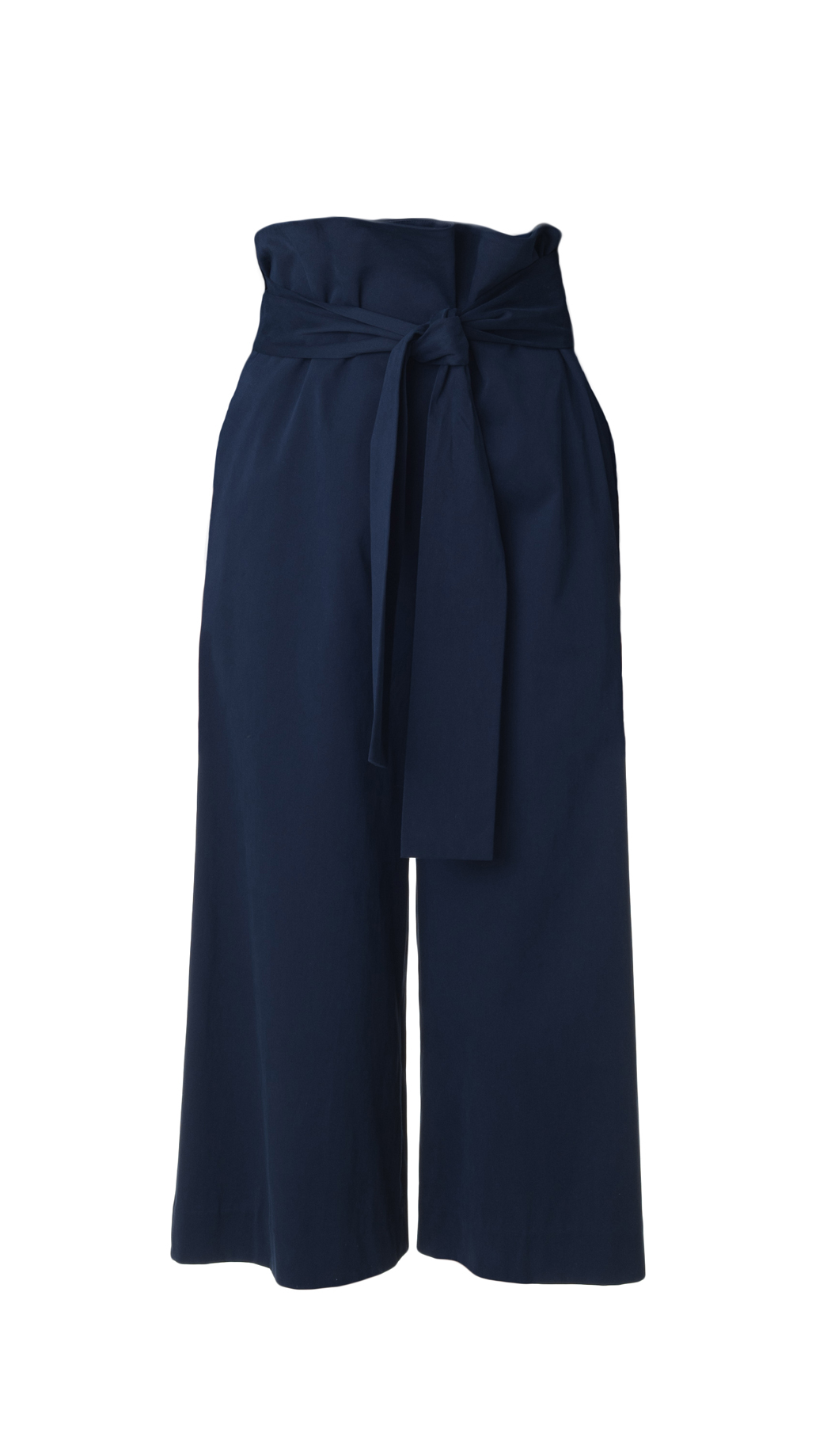 Lyst Tibi Luxe Brushed Twill Paper Bag Pants In Blue