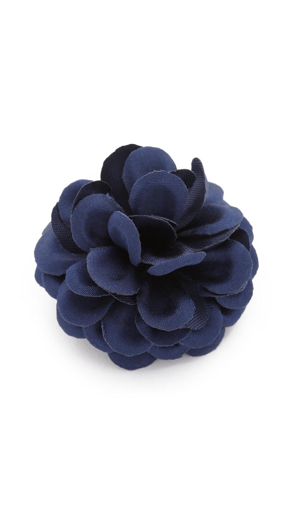 Hook albert Lapel Flower in Blue for Men