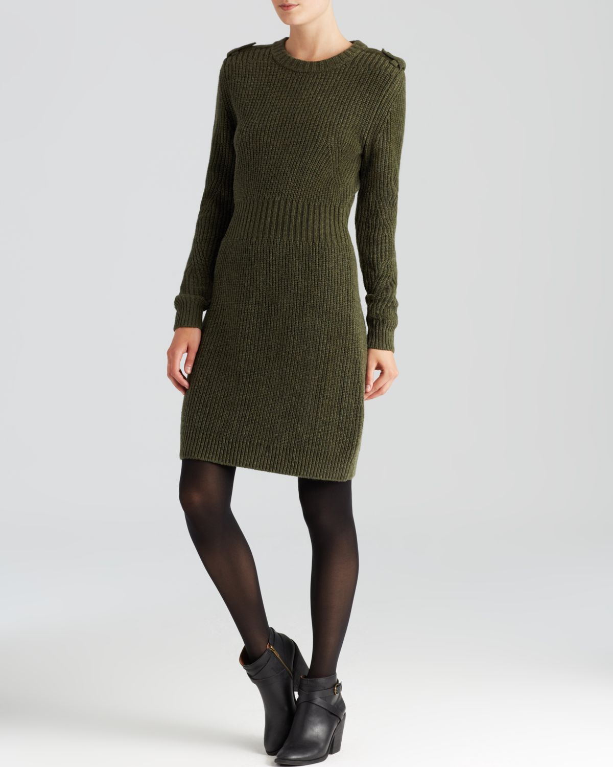 marc by marc jacobs sweater dress benjamine in green lyst. Black Bedroom Furniture Sets. Home Design Ideas
