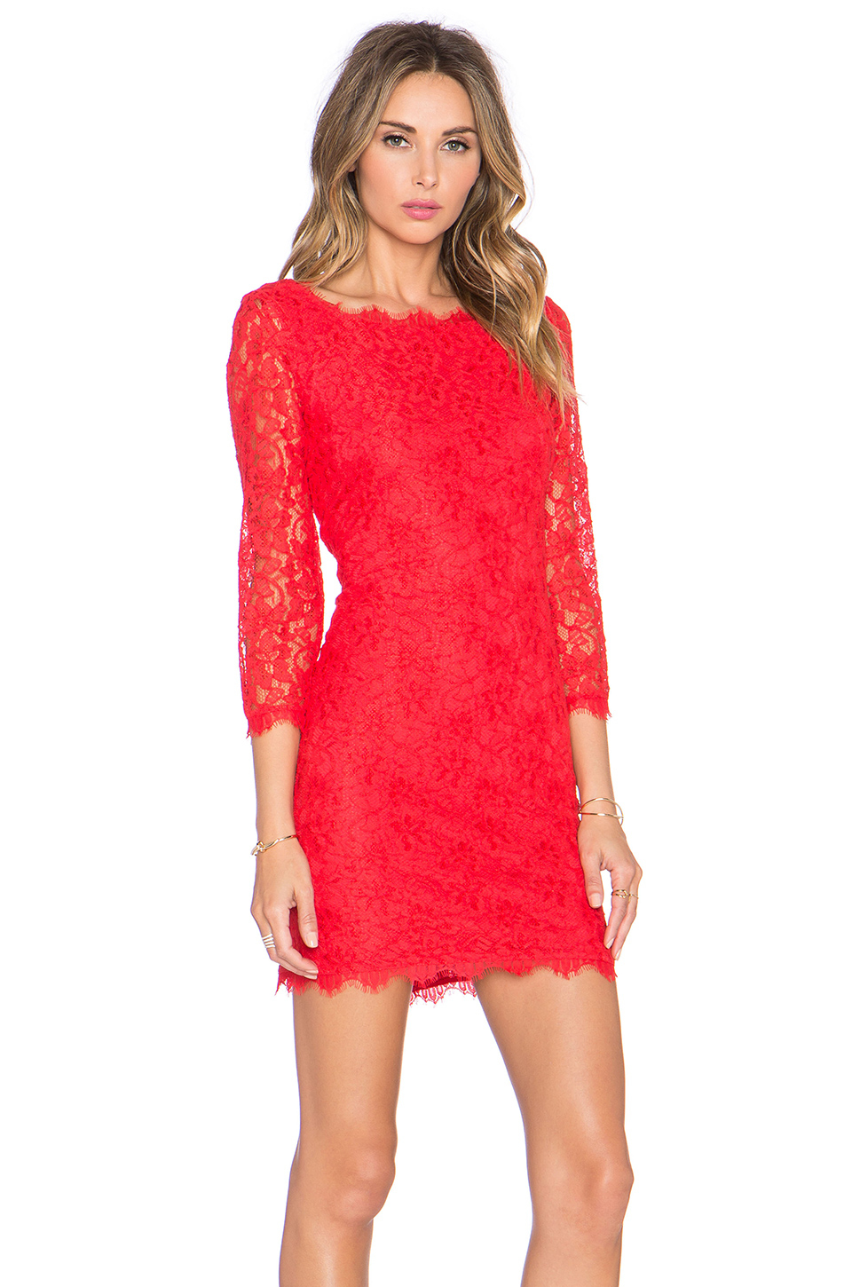 Diane von furstenberg zarita dress in red lyst for Diane von furstenberg clothes