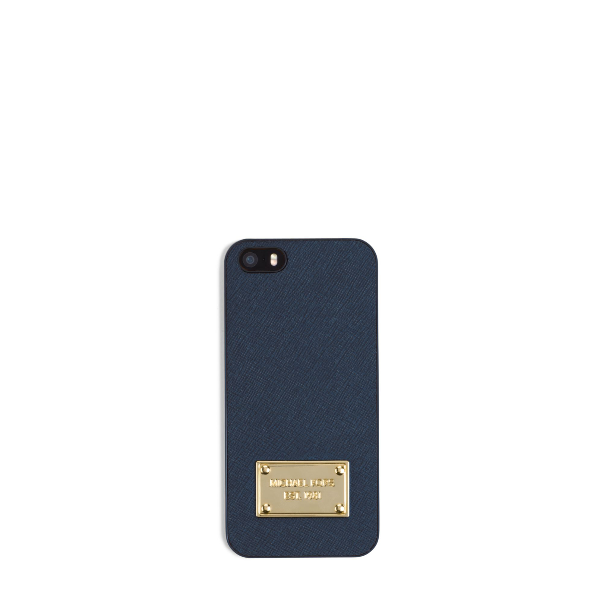 michael kors saffiano leather phone case for iphone 5 in. Black Bedroom Furniture Sets. Home Design Ideas