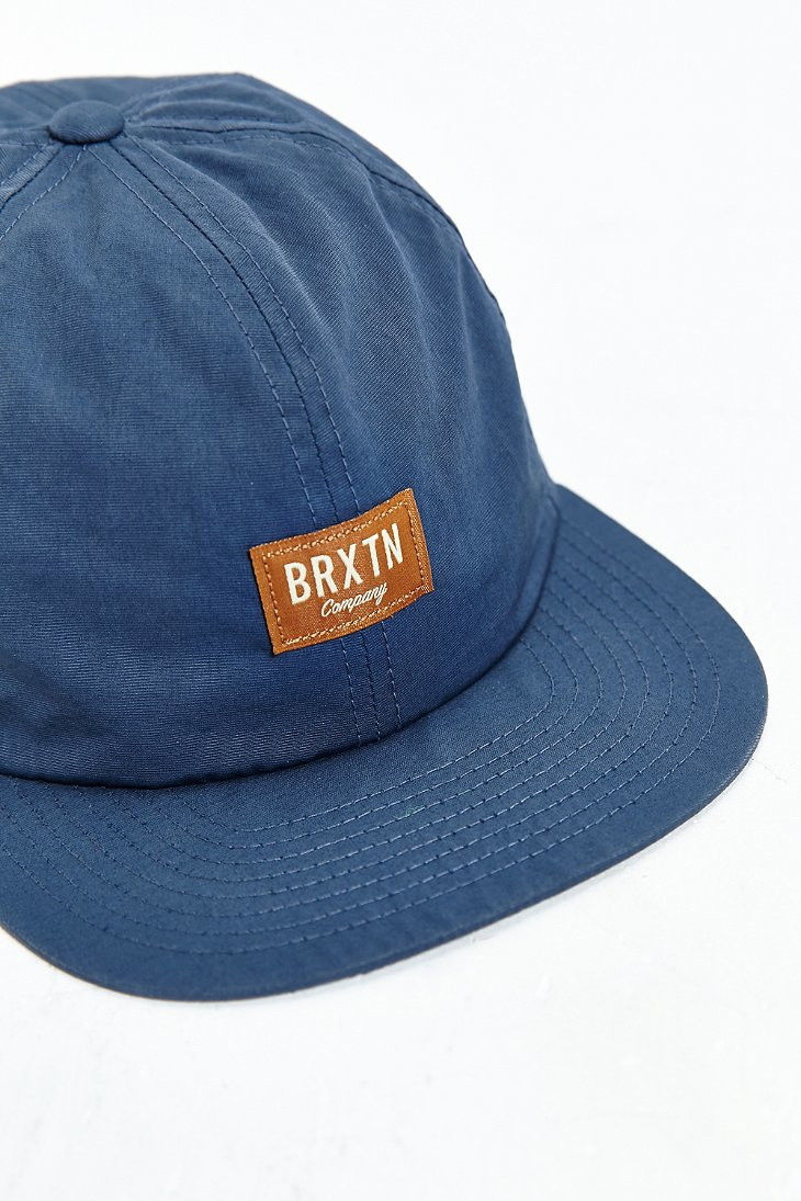 3b22f02c004 Lyst - Brixton Hoover Ii Strapback Hat in Blue for Men