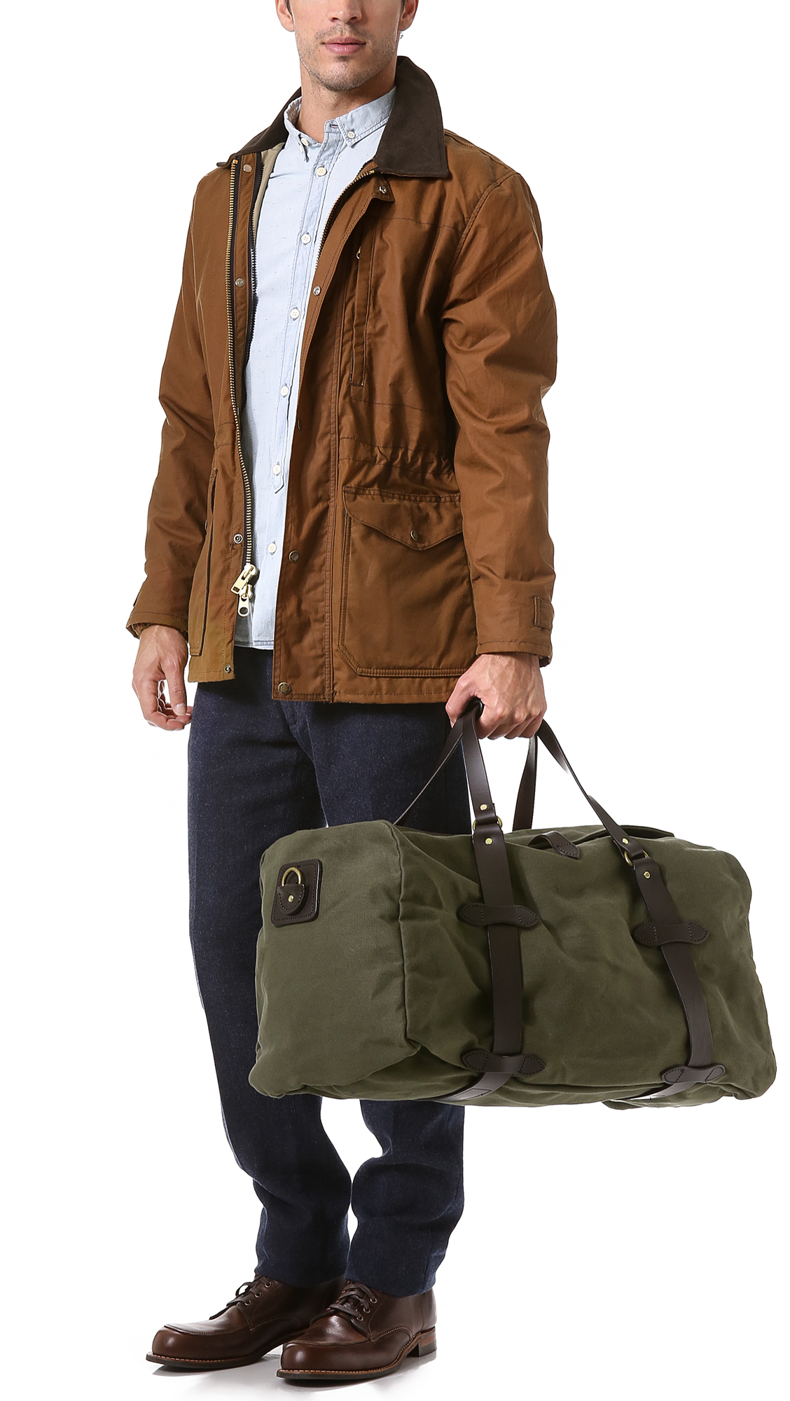 Lyst Filson Medium Duffel Bag In Natural For Men