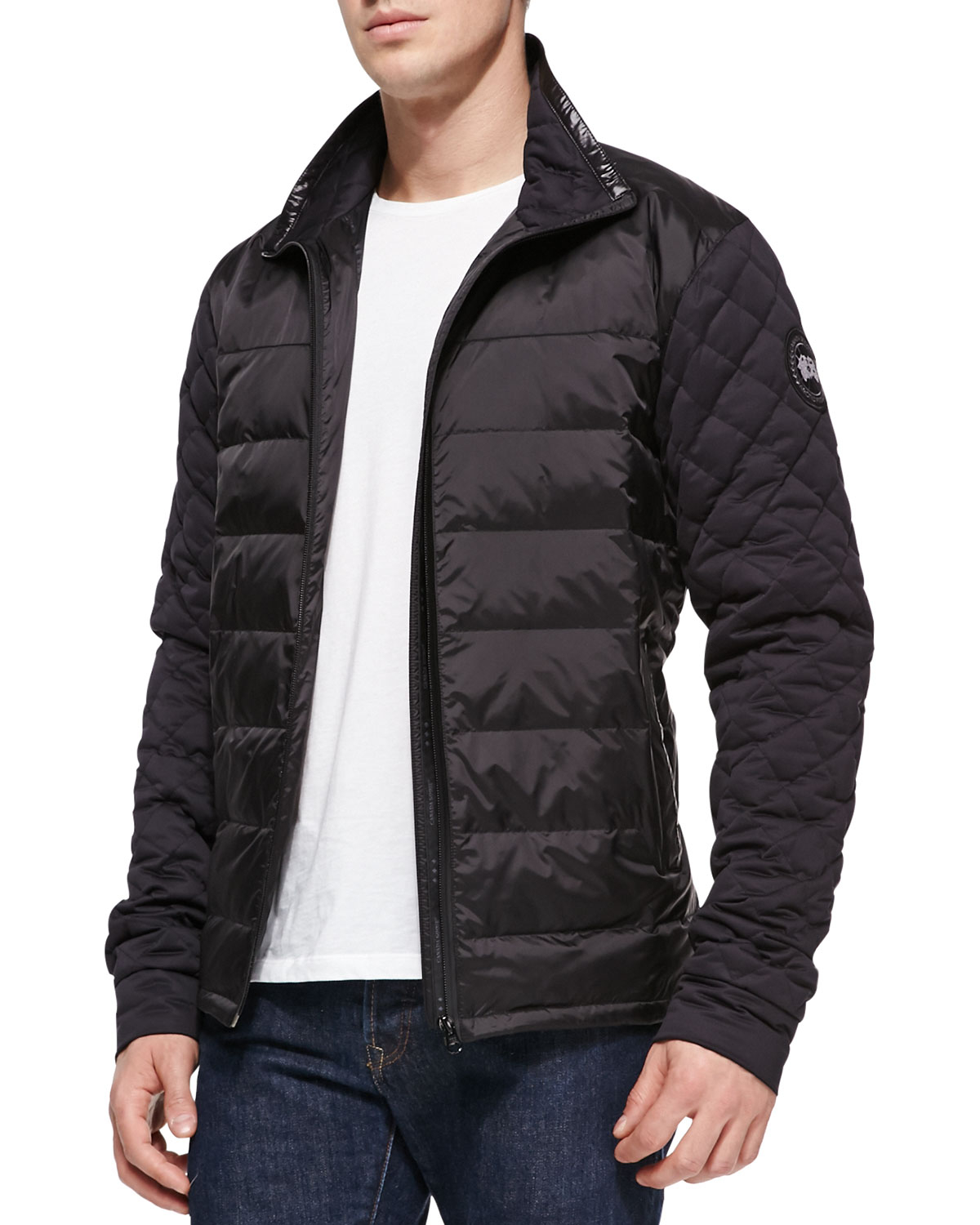 Canada Goose Branta Elliston Quilted Jacket Black In Black