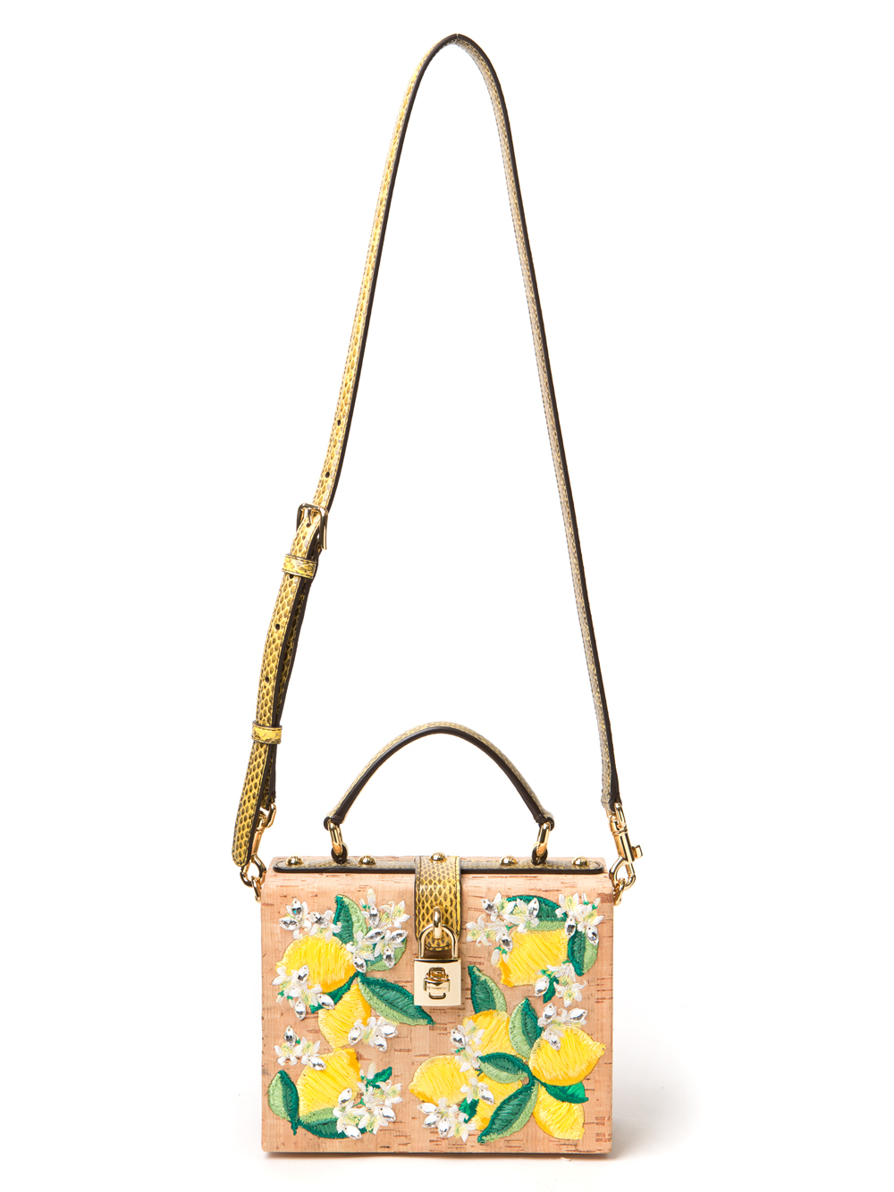 Lyst - Dolce   Gabbana Lemon Cork Tote in Yellow ae79d68187f07