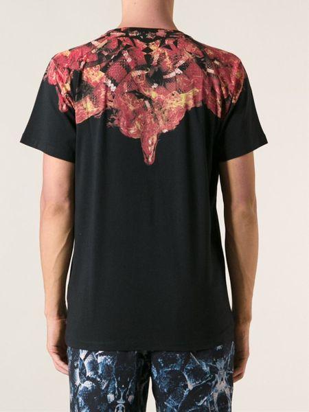 Snake Print Shirt Mens Burlon Snake Print T-shirt