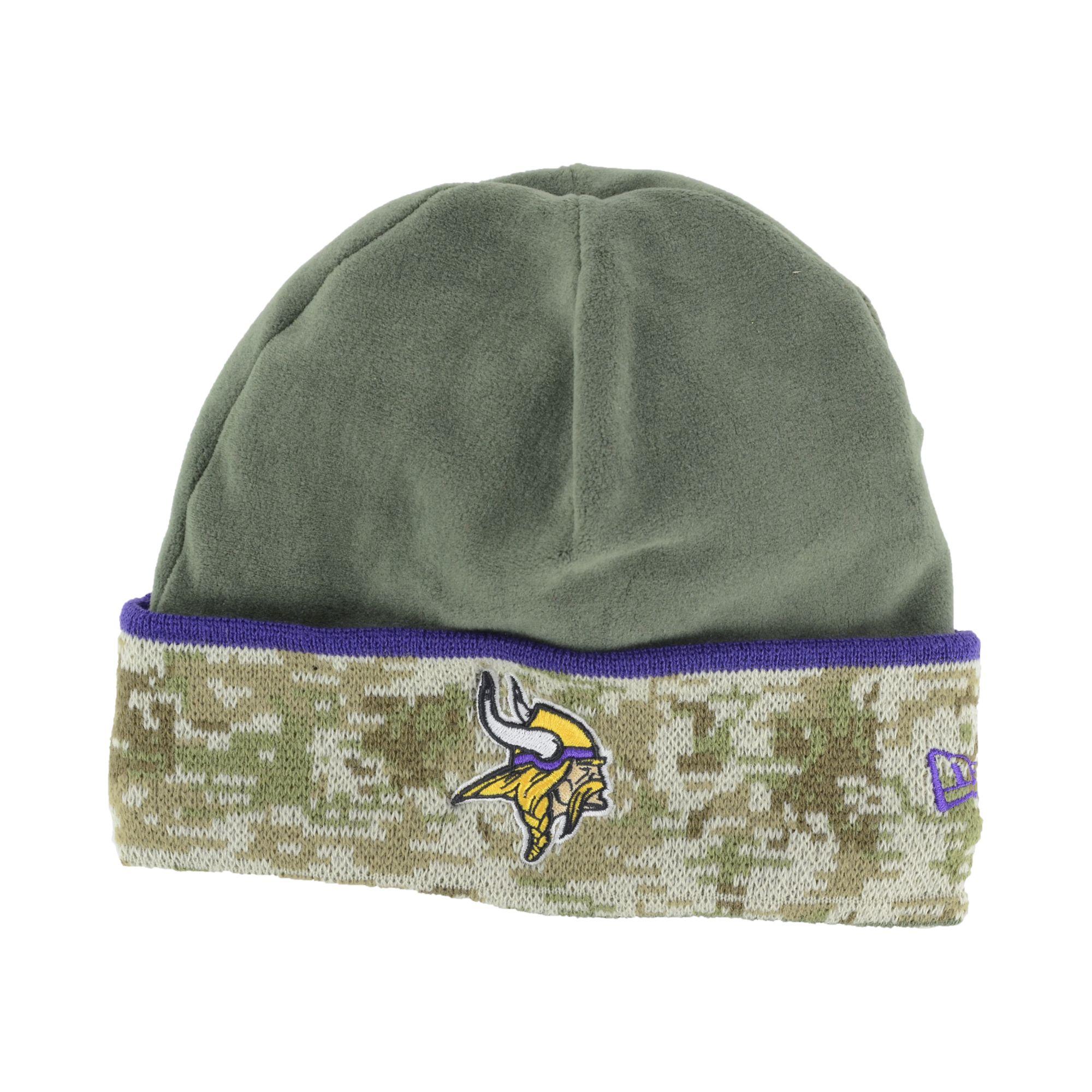 ... nfl new era knit beanie hat cap . efaba 3d75b  release date lyst ktz  minnesota vikings salute to service knit hat in green for men f1841 cd85da19f