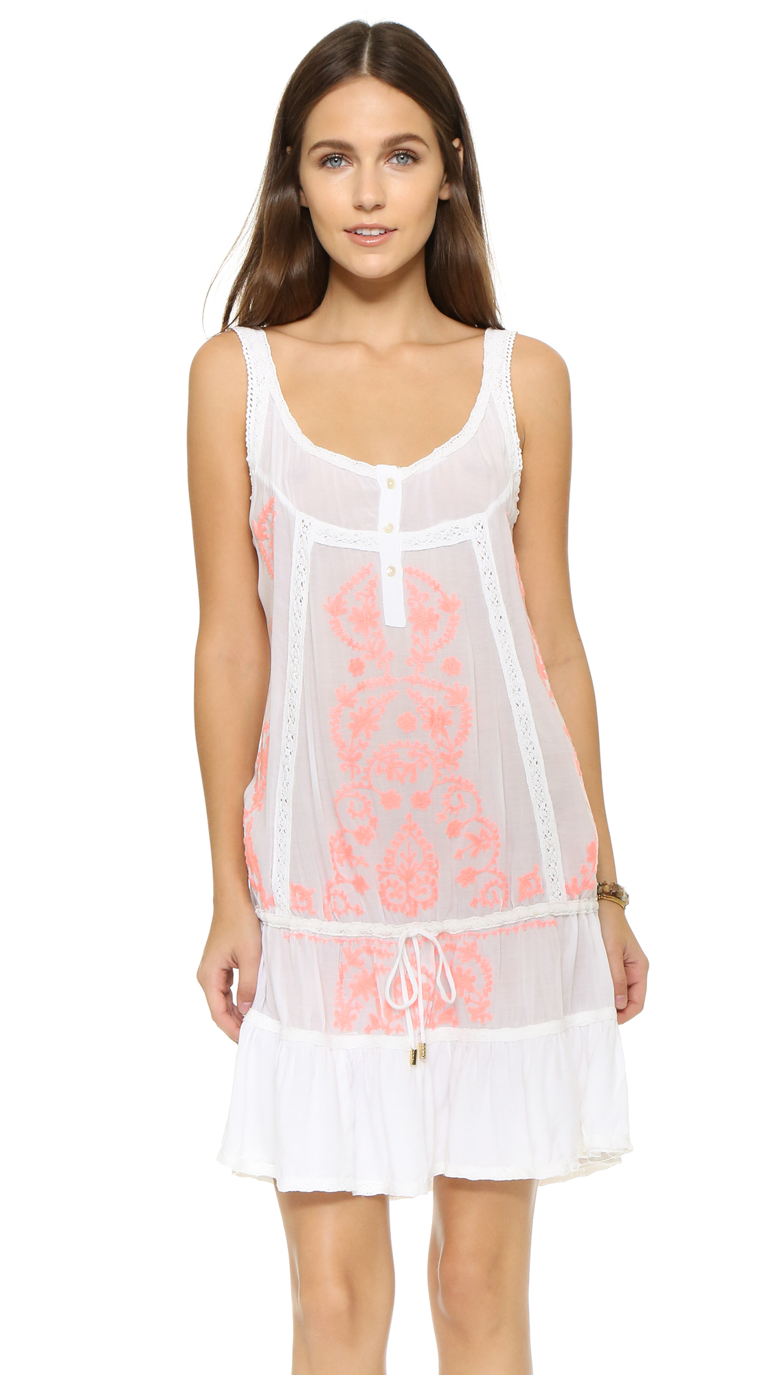 f9bf0a4a0153 Lyst - Melissa Odabash Jaz Beach Dress in White