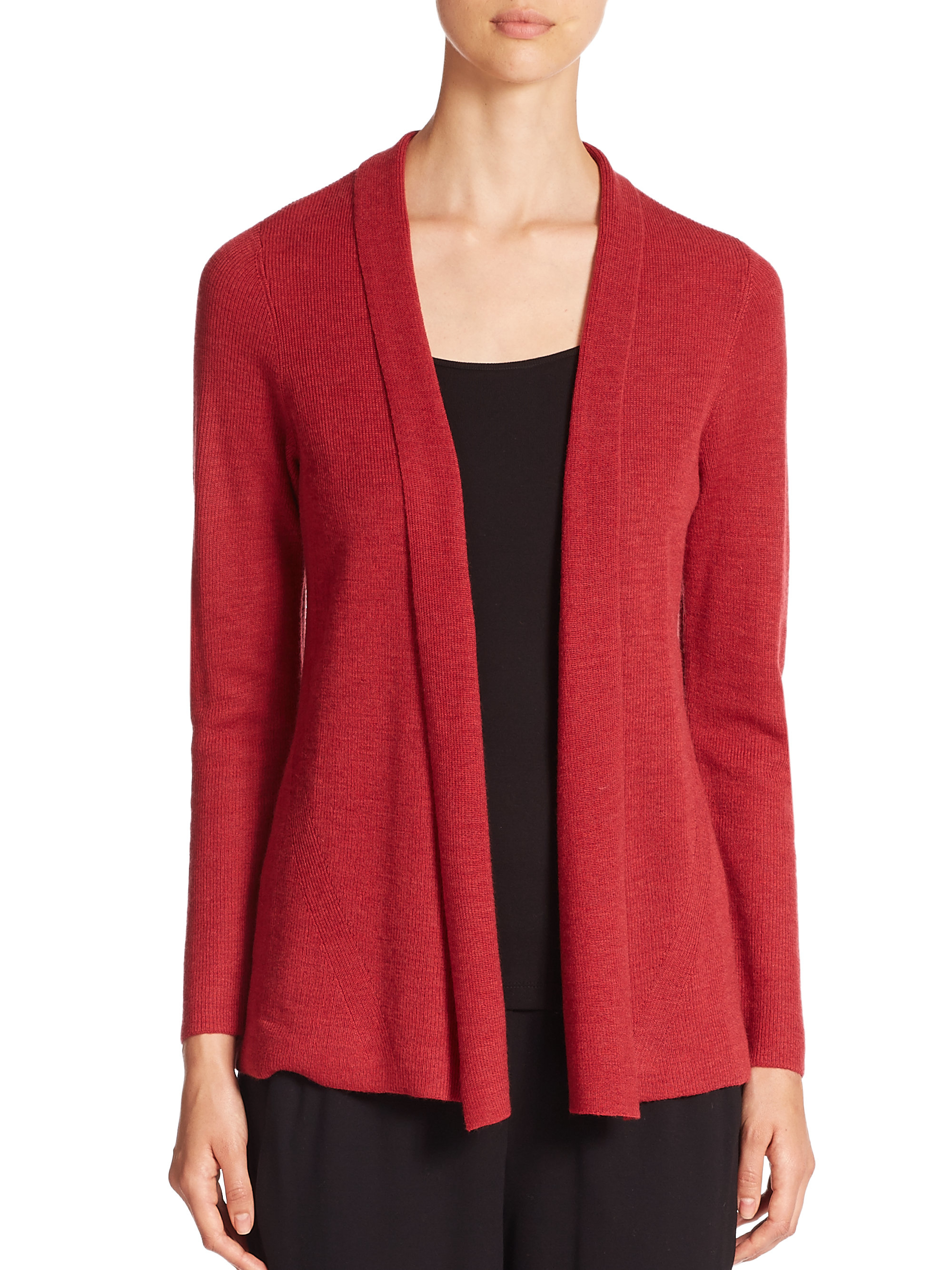 Red Wool Cardigan | Tulips Clothing