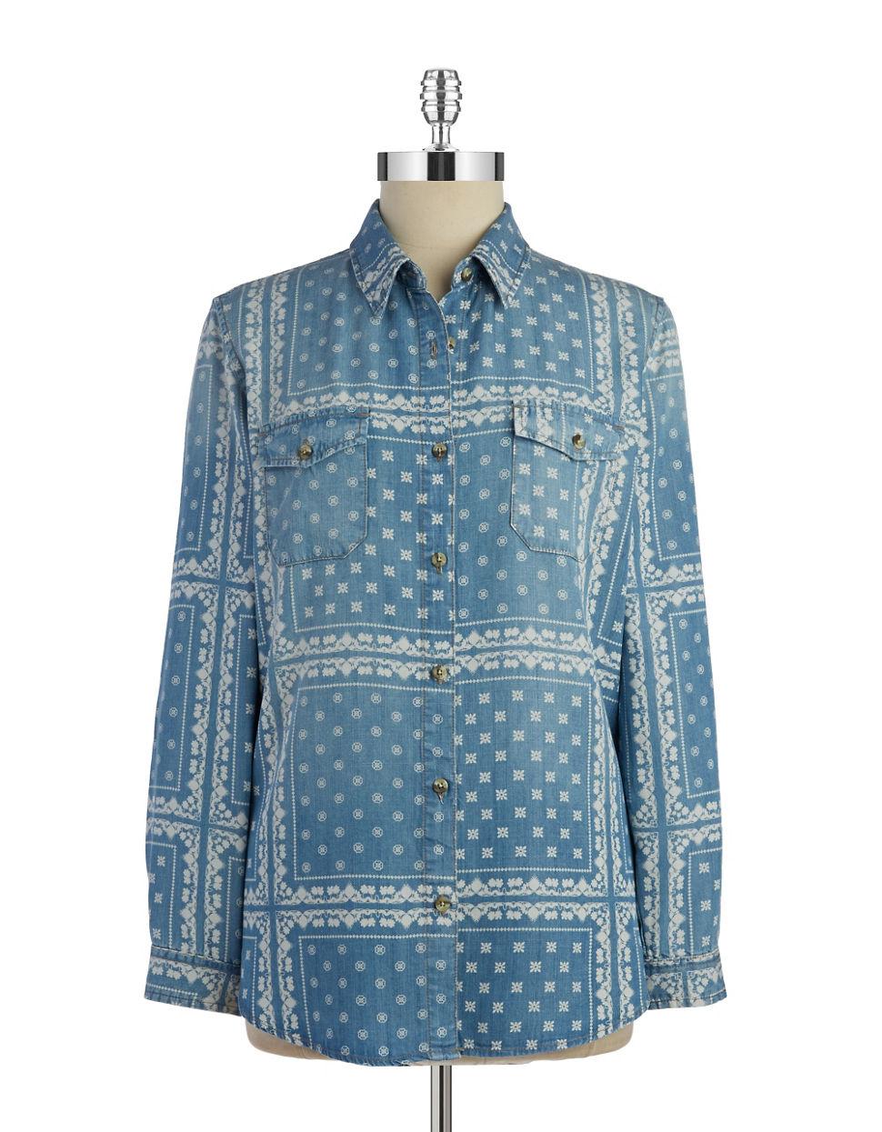 Thread & supply Printed Chambray Shirt