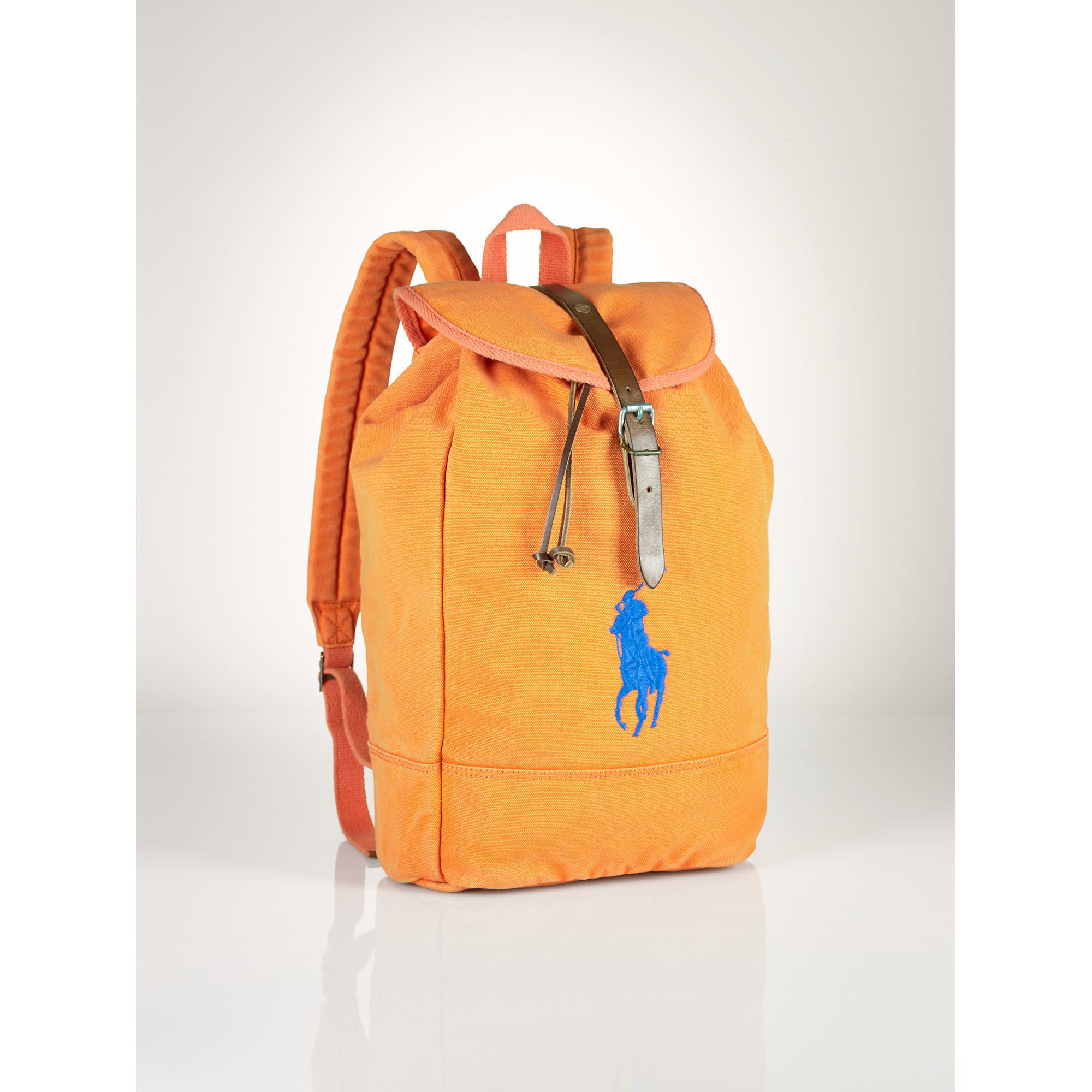 Lyst - Polo Ralph Lauren Big Pony Backpack in Orange for Men a2a97eea1204a