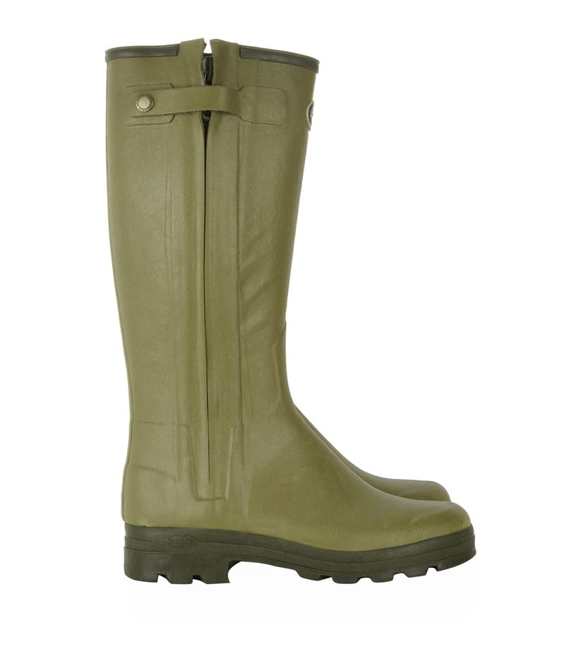 le chameau chasseur leather lined wellington boots in