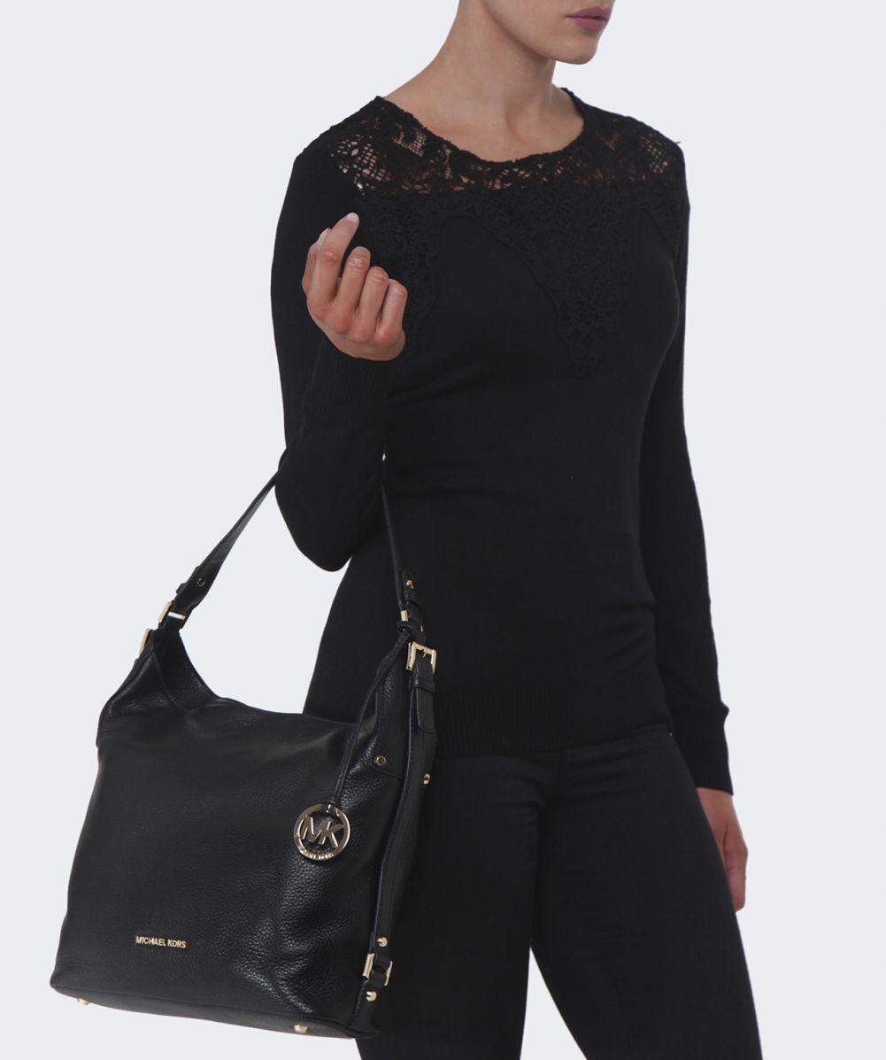 michael kors bedford leather tote black luggage. Black Bedroom Furniture Sets. Home Design Ideas