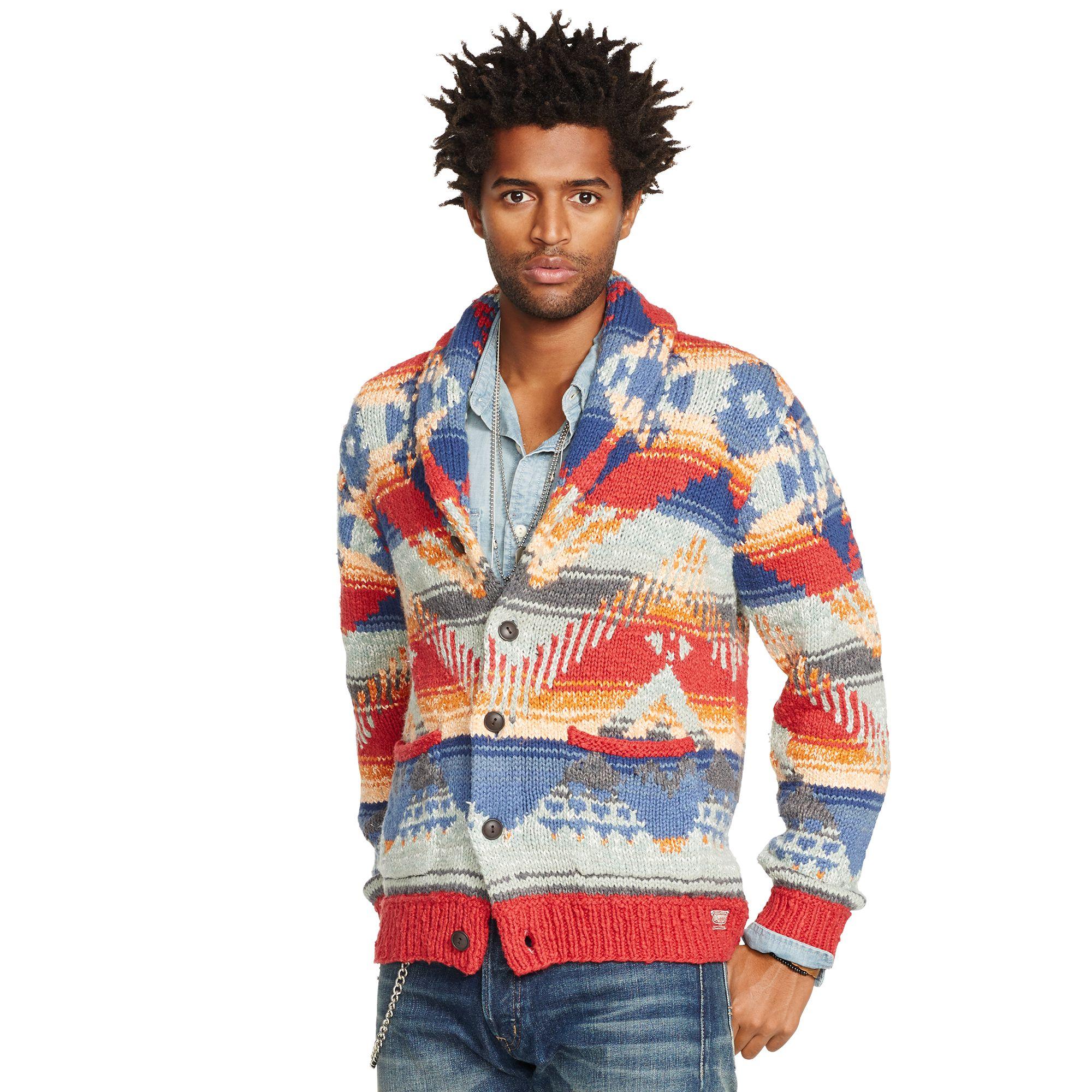 2e95c7e0f Denim   Supply Ralph Lauren Southwestern Shawl Cardigan for Men - Lyst