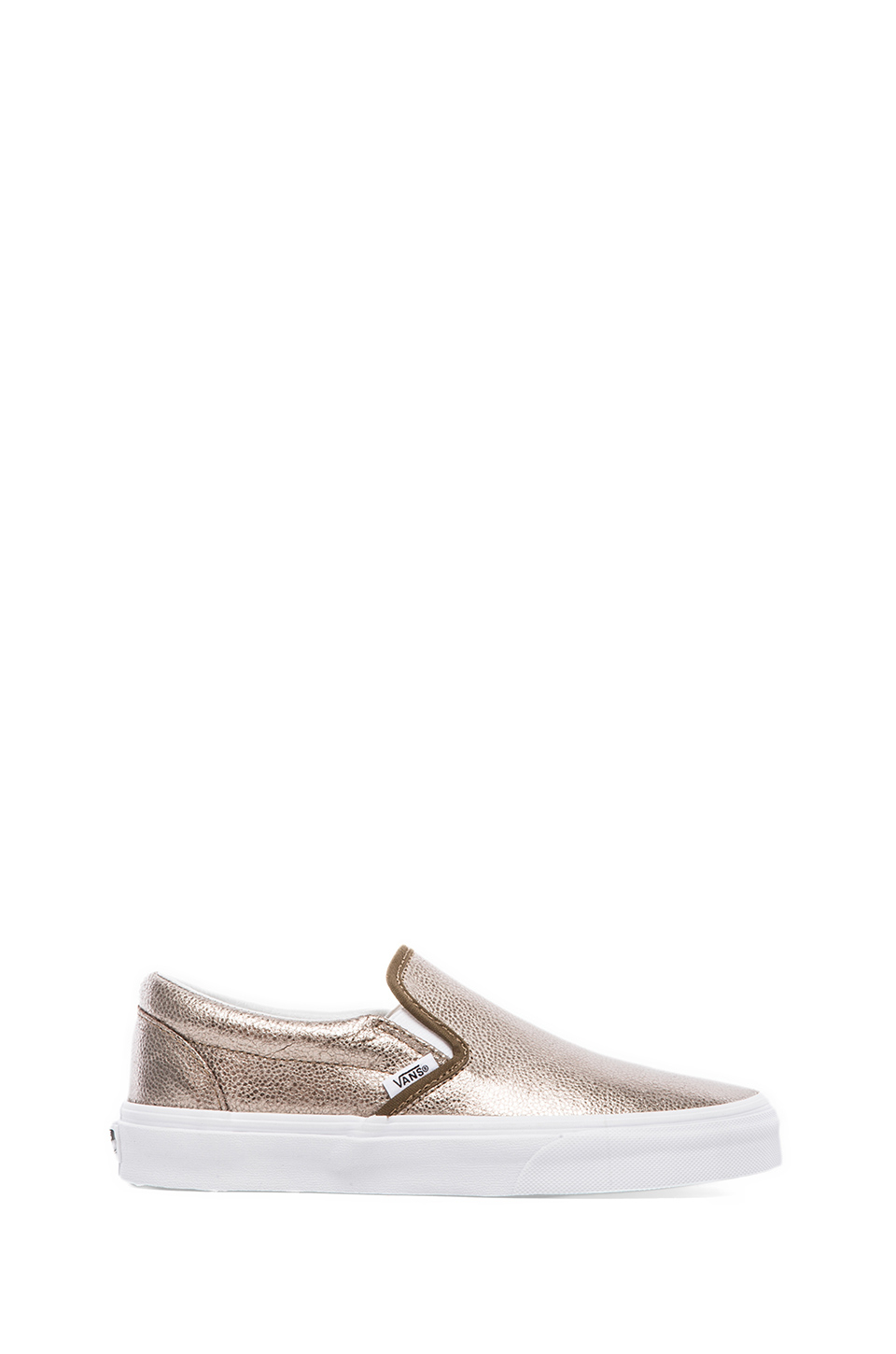 vans classic slip on sneaker in gold bronze lyst