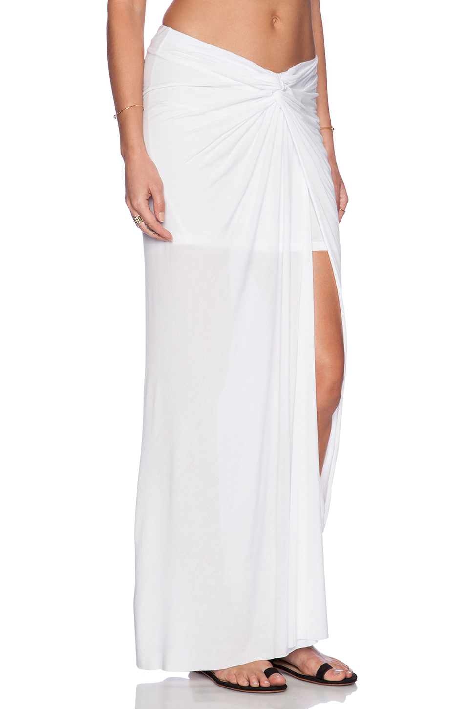 Young fabulous & broke Kulani Maxi Skirt in White | Lyst