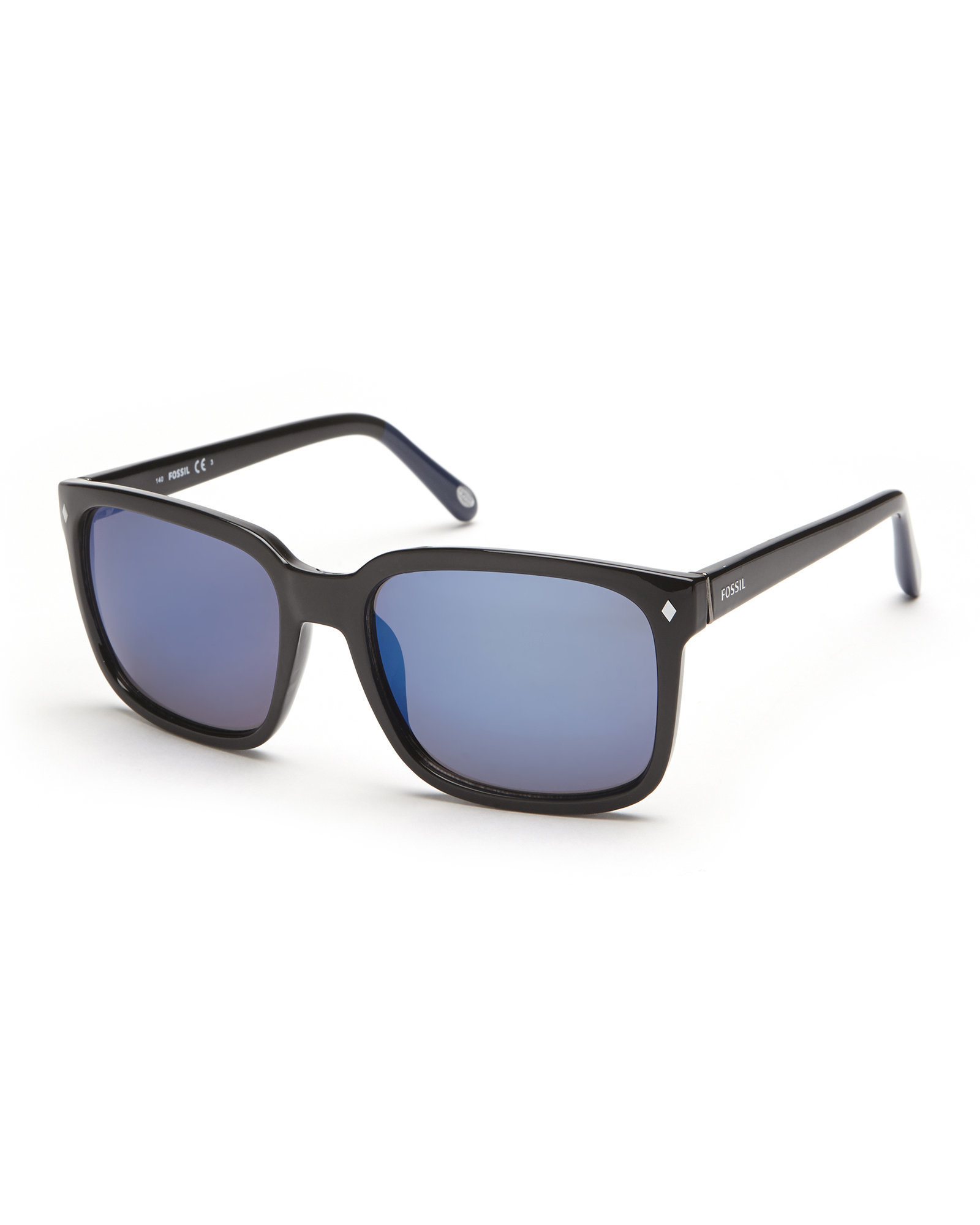 b8fbdf6356 Lyst - Fossil Black 3035 S Xl Wayfarer Sunglasses in Blue for Men