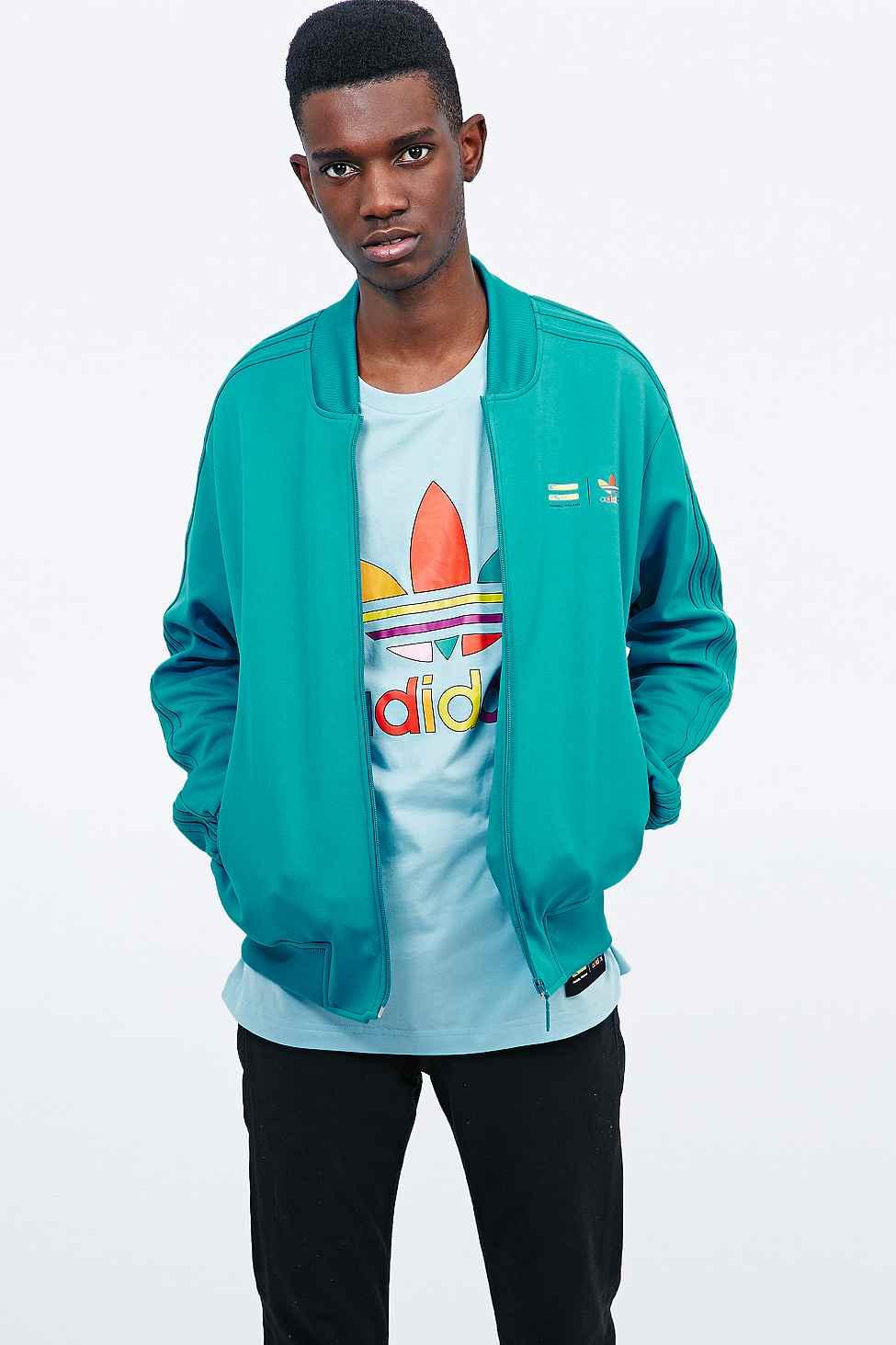 c2d3f06c7 adidas Originals X Pharrell Supercolor Track Jacket In Turquoise in ...