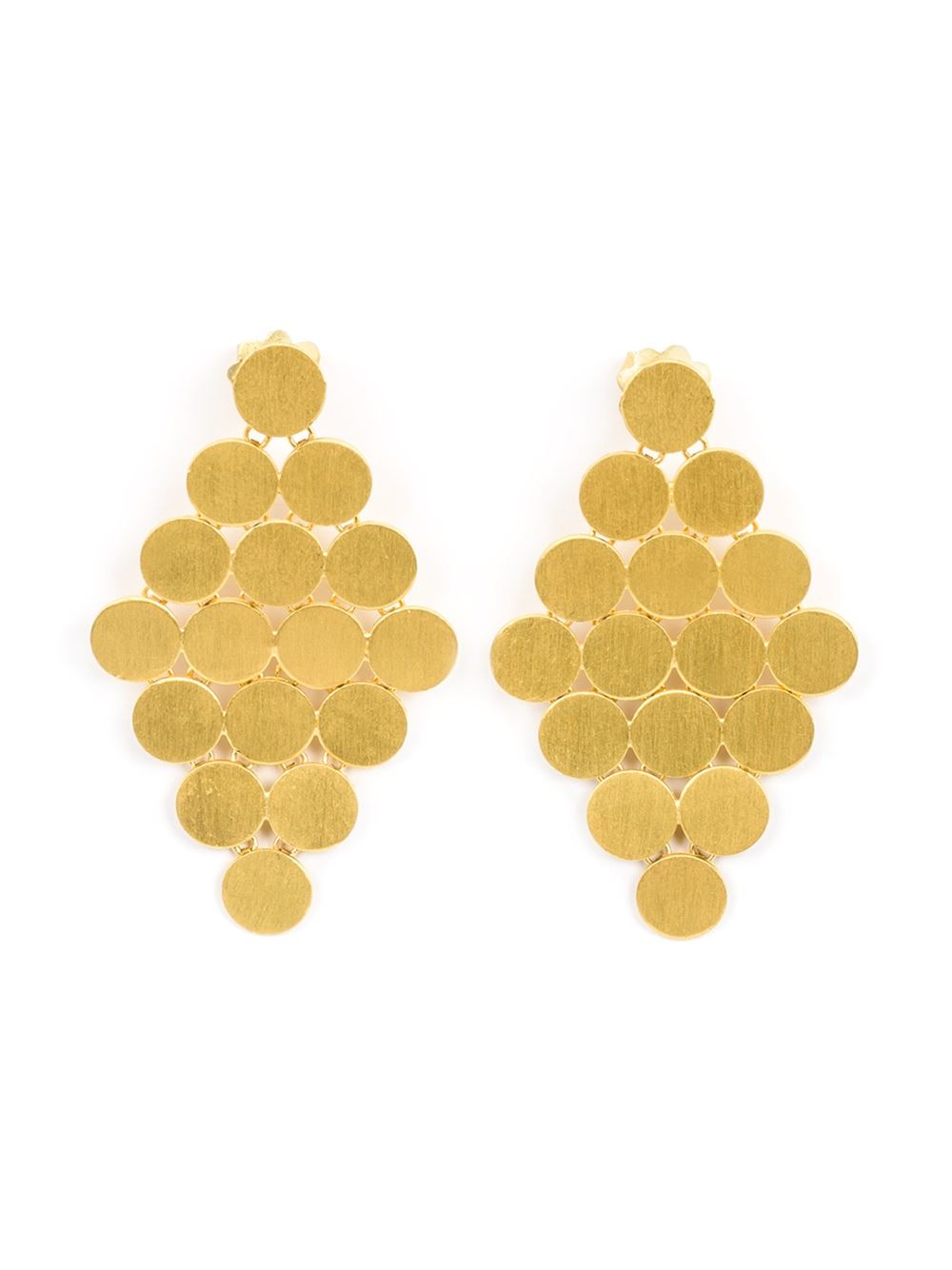 Lyst marie hlne de taillac 22kt yellow gold chandelier earrings gallery arubaitofo Choice Image
