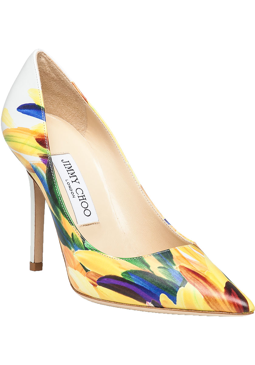 Jimmy Choo Yellow And Black Shoes
