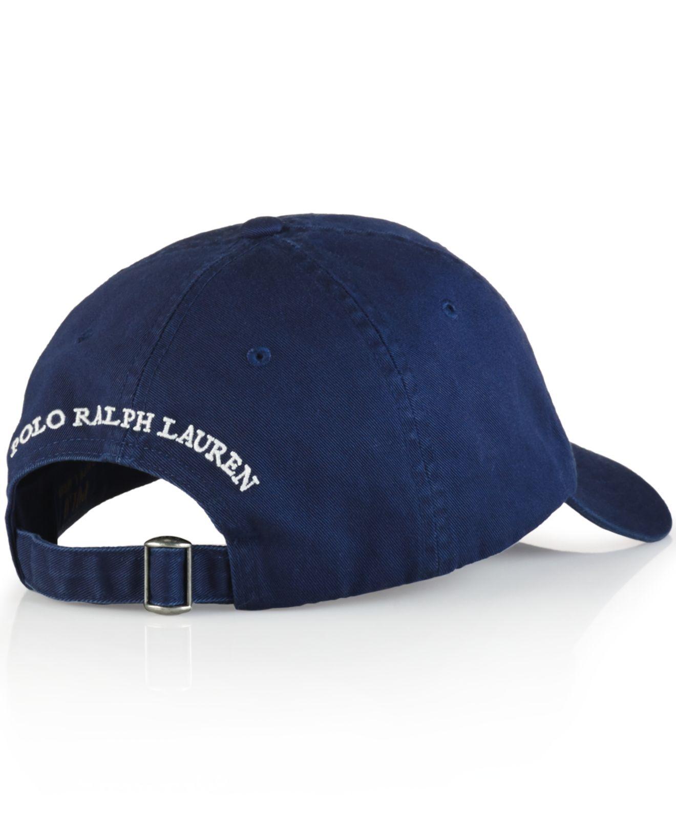 ebb8901a02c Lyst - Polo Ralph Lauren Polo Bear Chino Baseball Cap - Preppy Polo ...