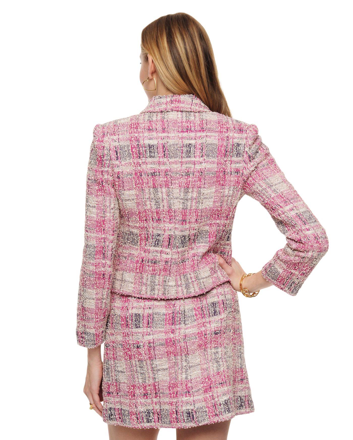 Juicy couture Plaid Lurex Boucle Jacket | Lyst